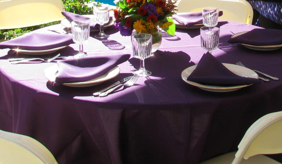 Purple tablecloth  wedding planning Archives   Sweet Potato Bites. Purple Tablecloths For Wedding. Home Design Ideas