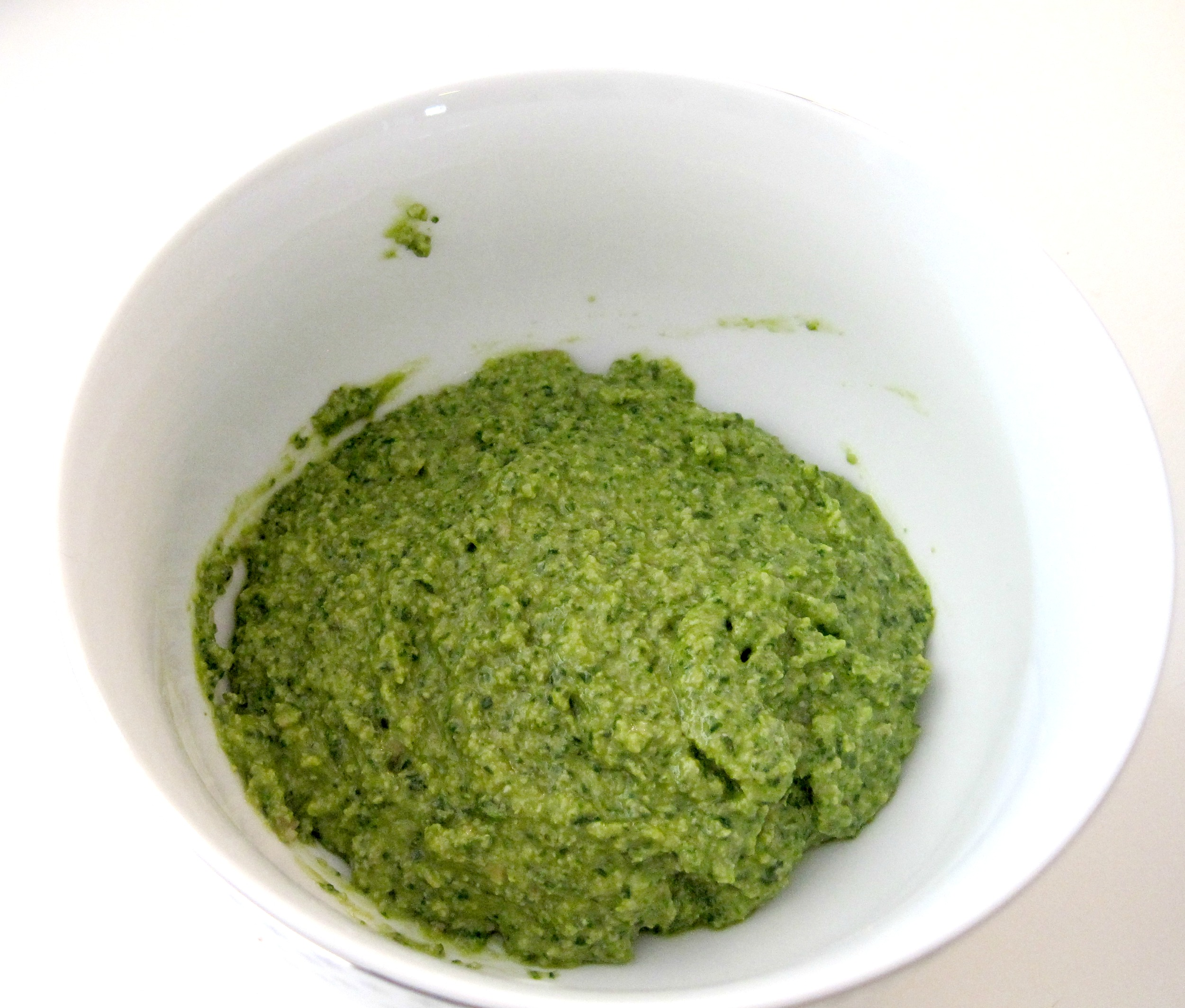 Homemade Basil Pesto Completed