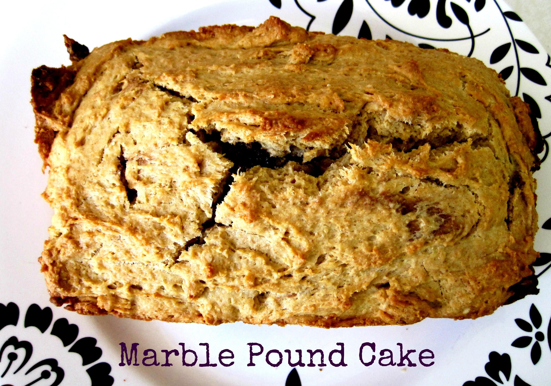 marble pound cake finished