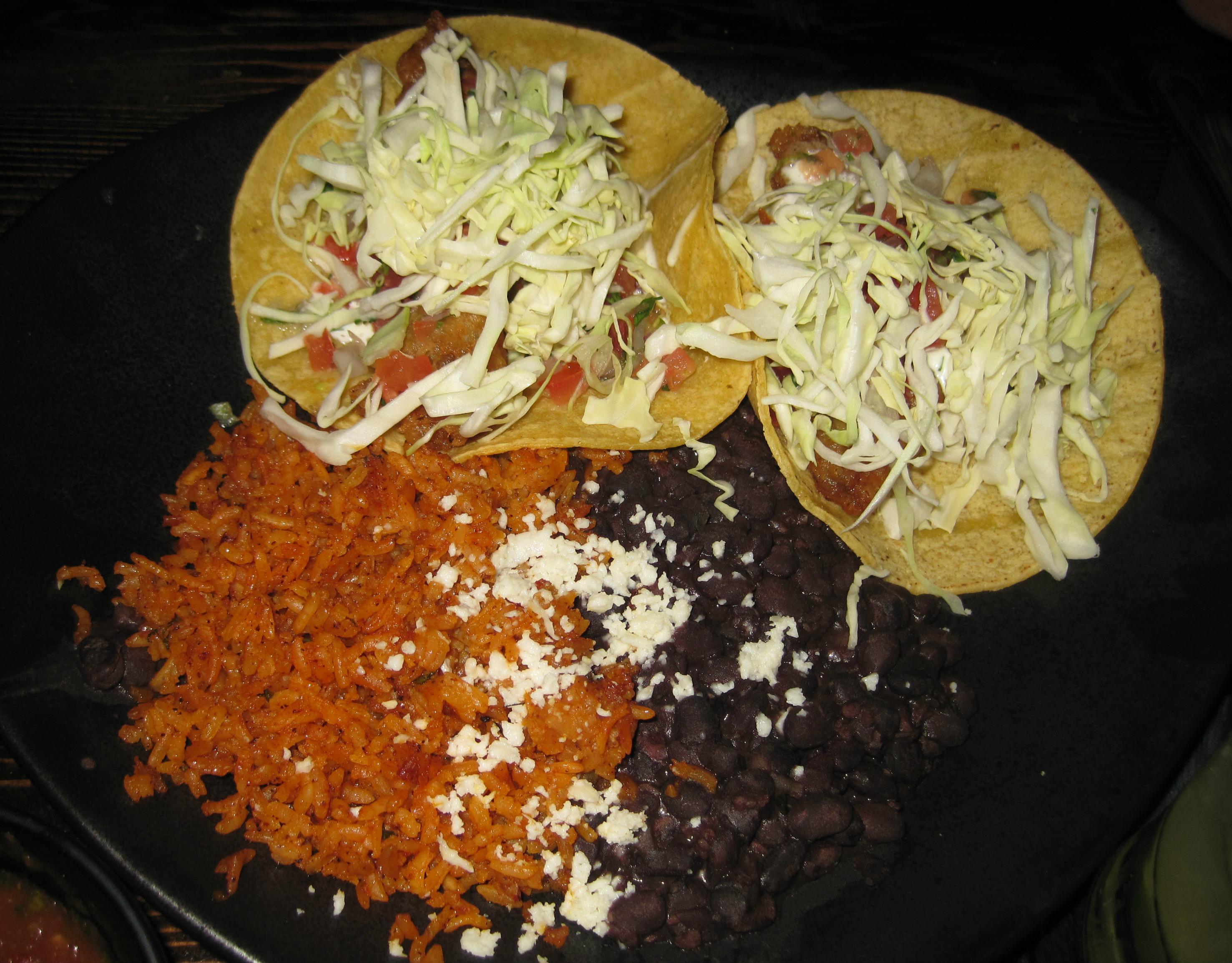 sol cocina fish taco plate