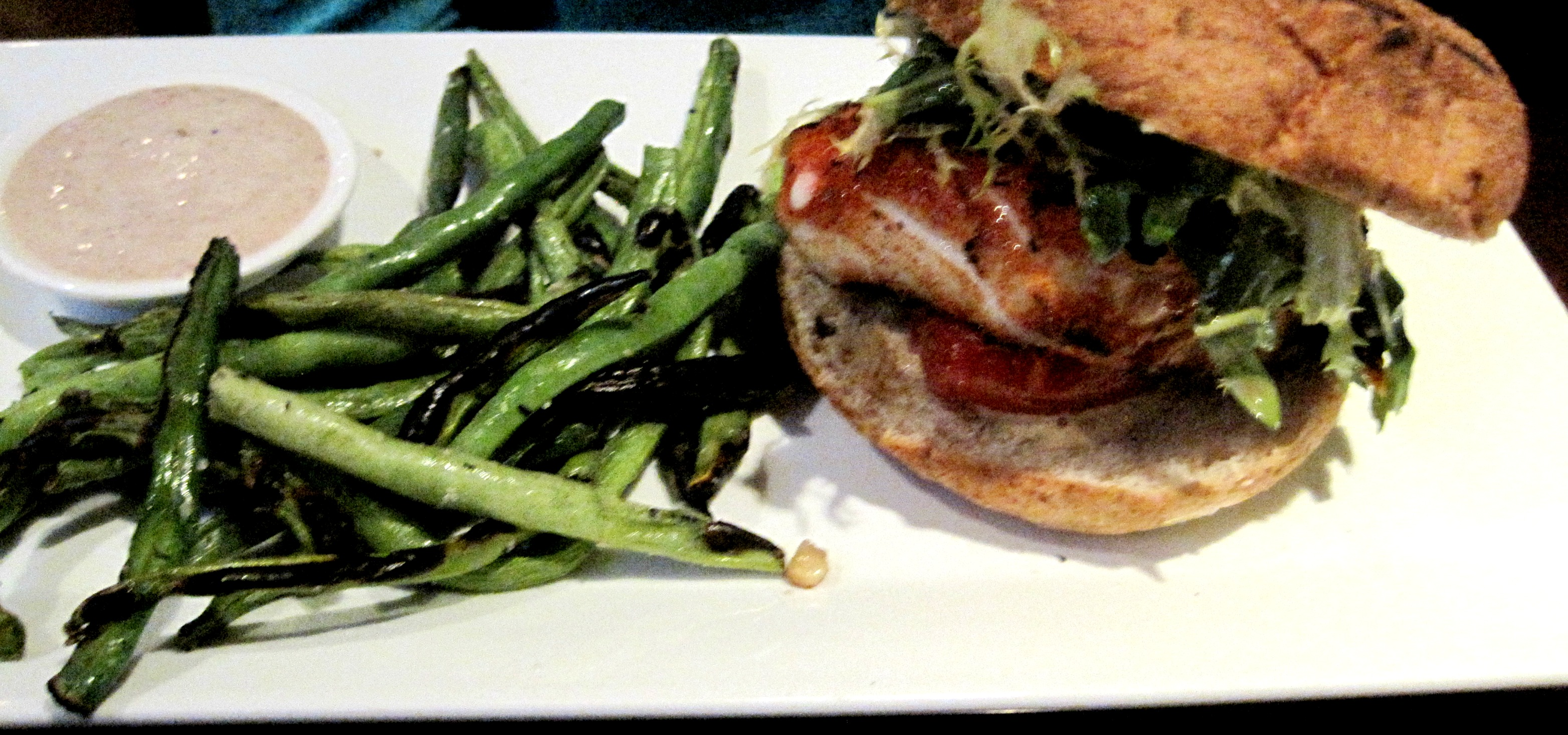 the crow bar and kitchen halibut burger