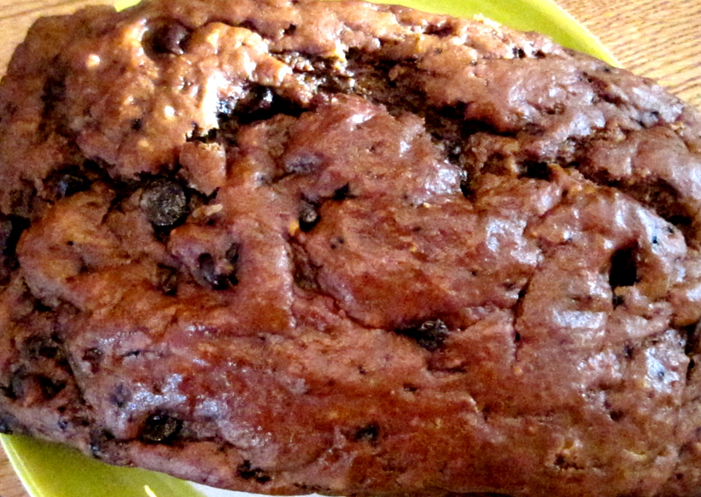 chocolate coffee cake close up