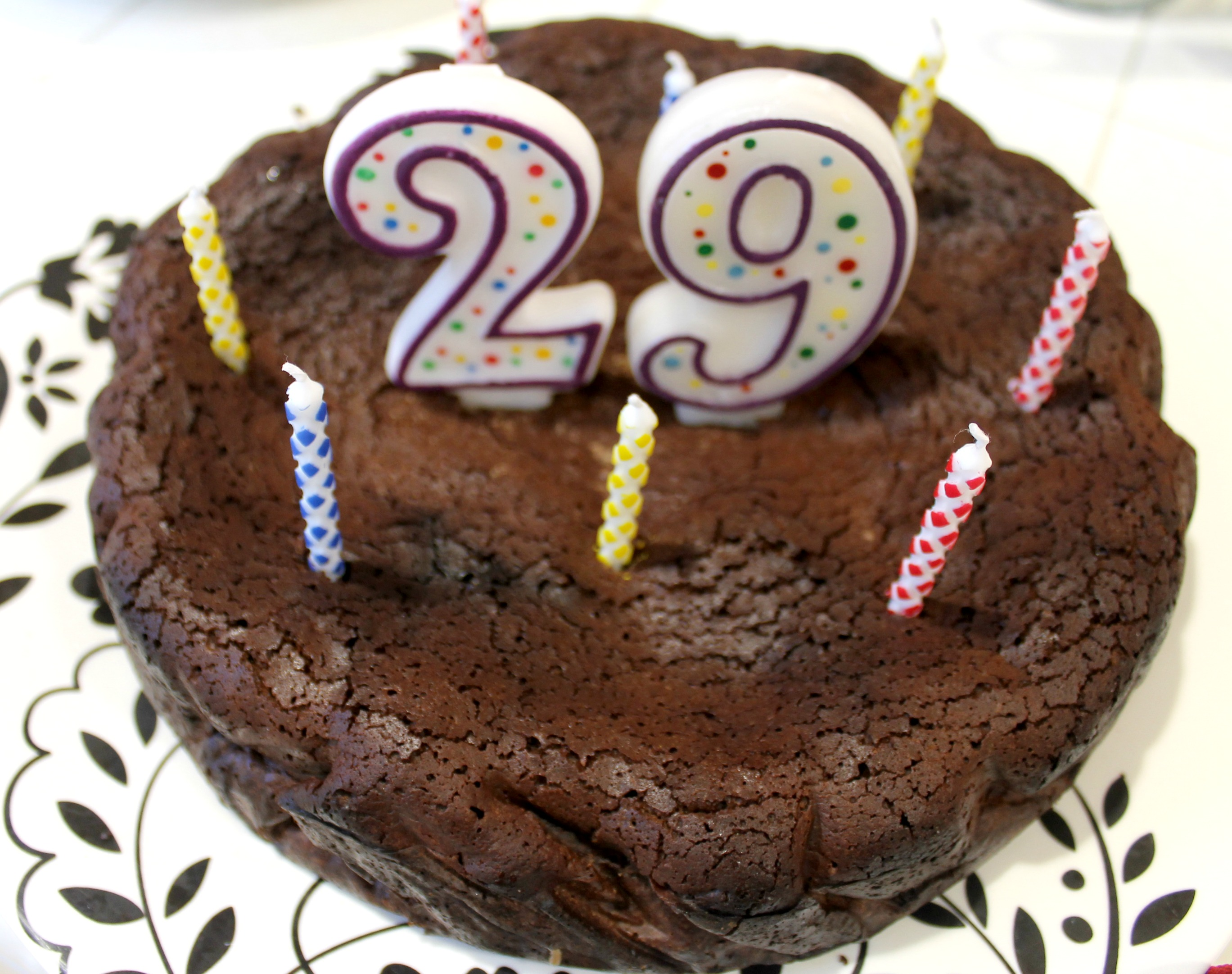 Flourless Chocolate Birthday Cake