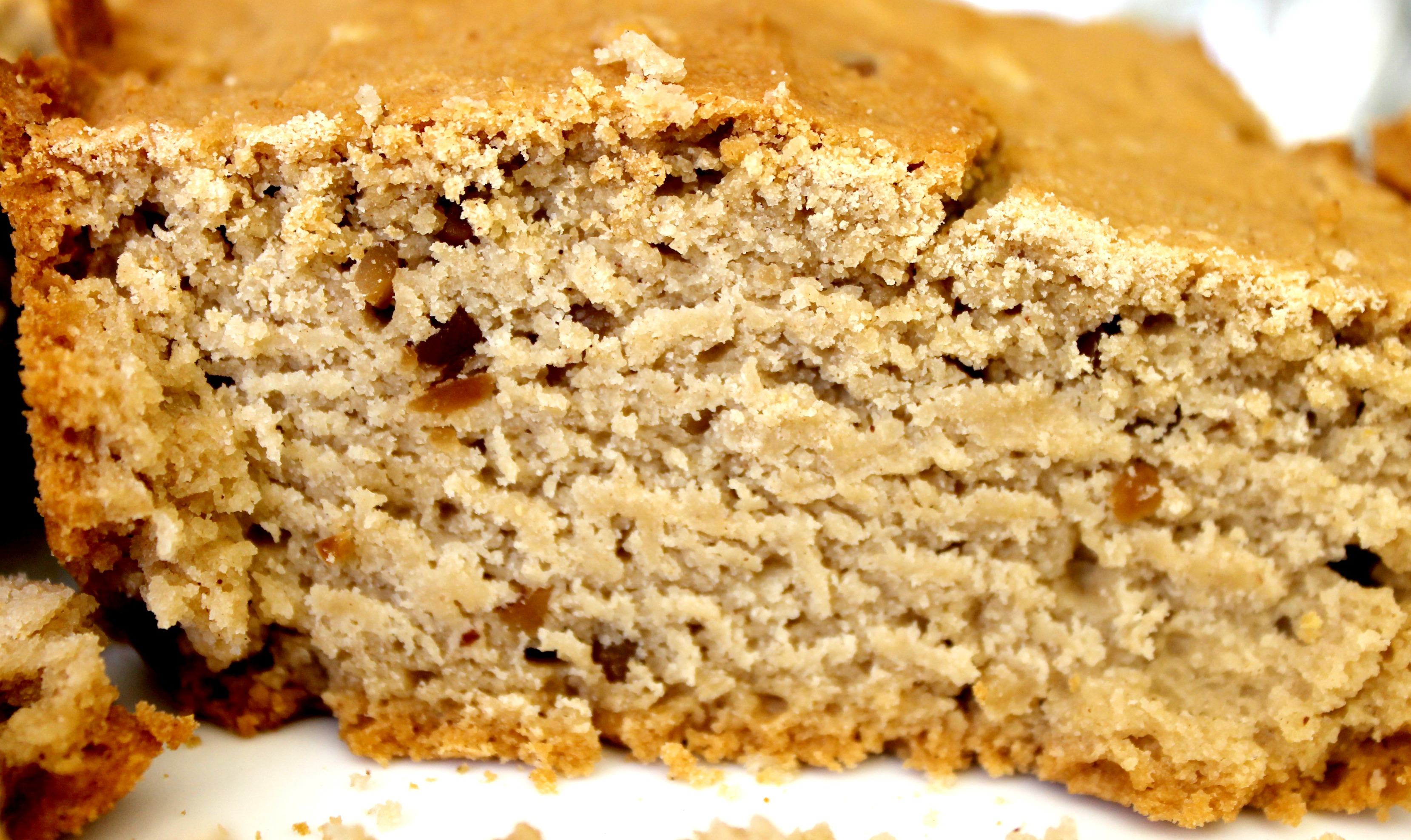 peanut butter bread close up