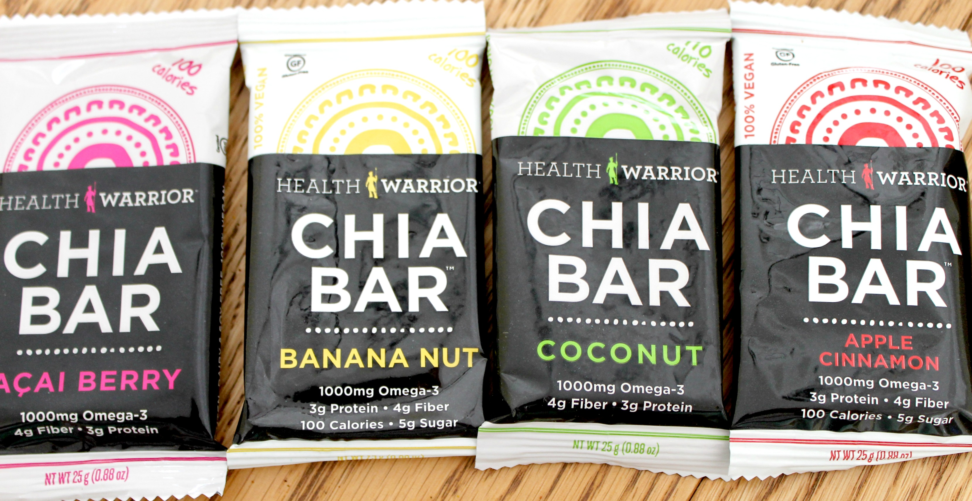 health warrior chia bar lineup