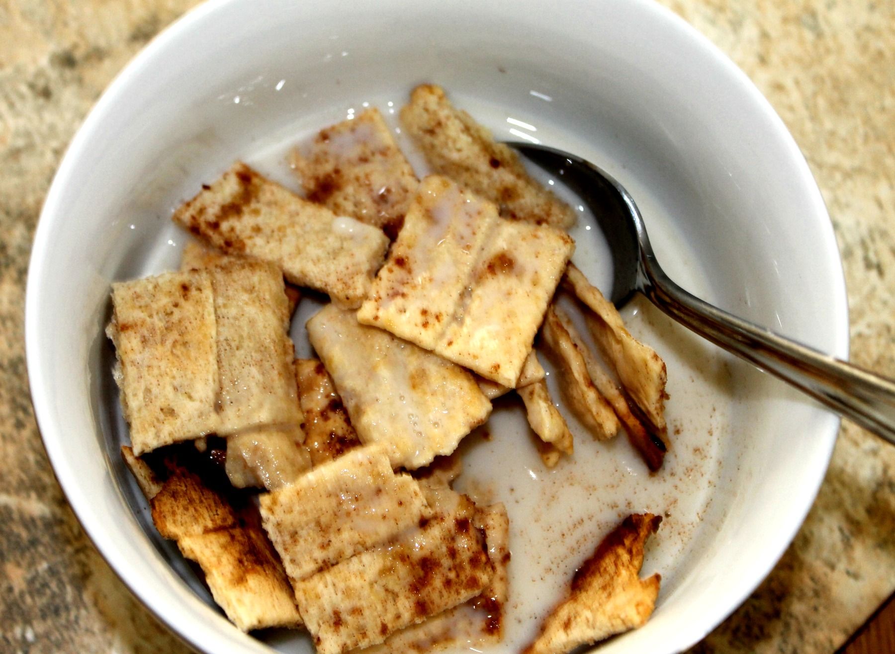 paleo pumpkin cereal with milk