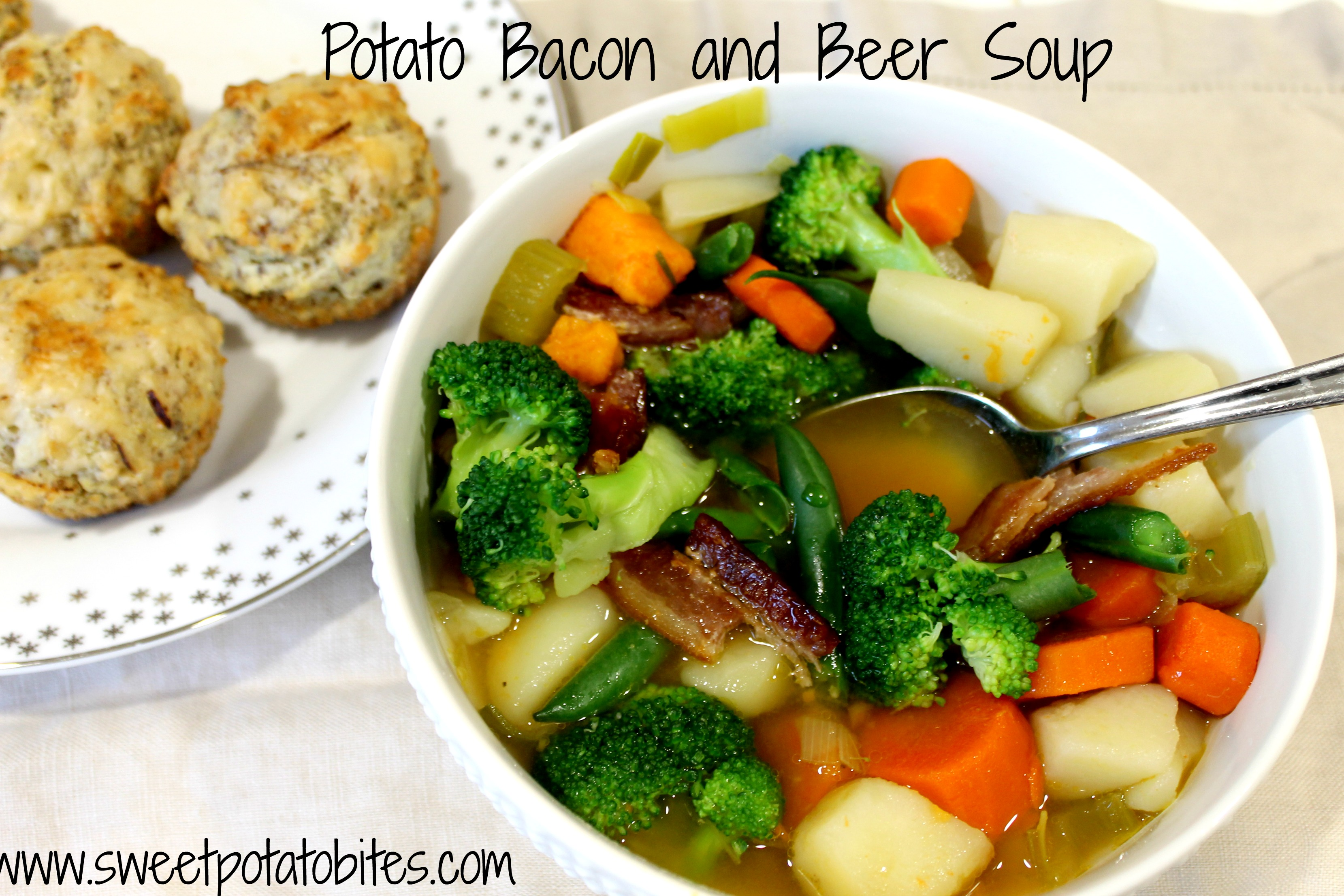 Bacon Potato Beer Soup and Bread