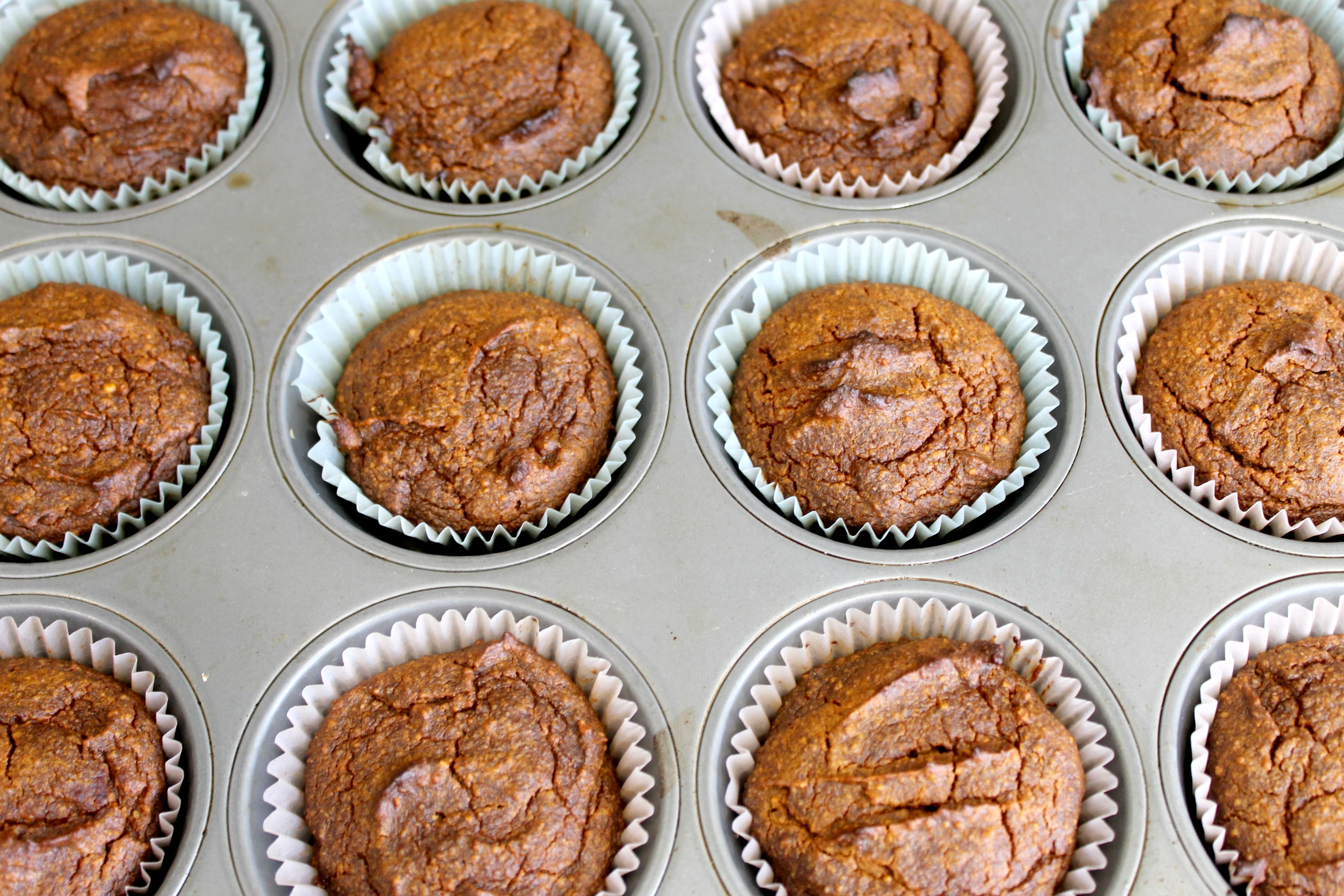 grain free pumpkin date muffin tin