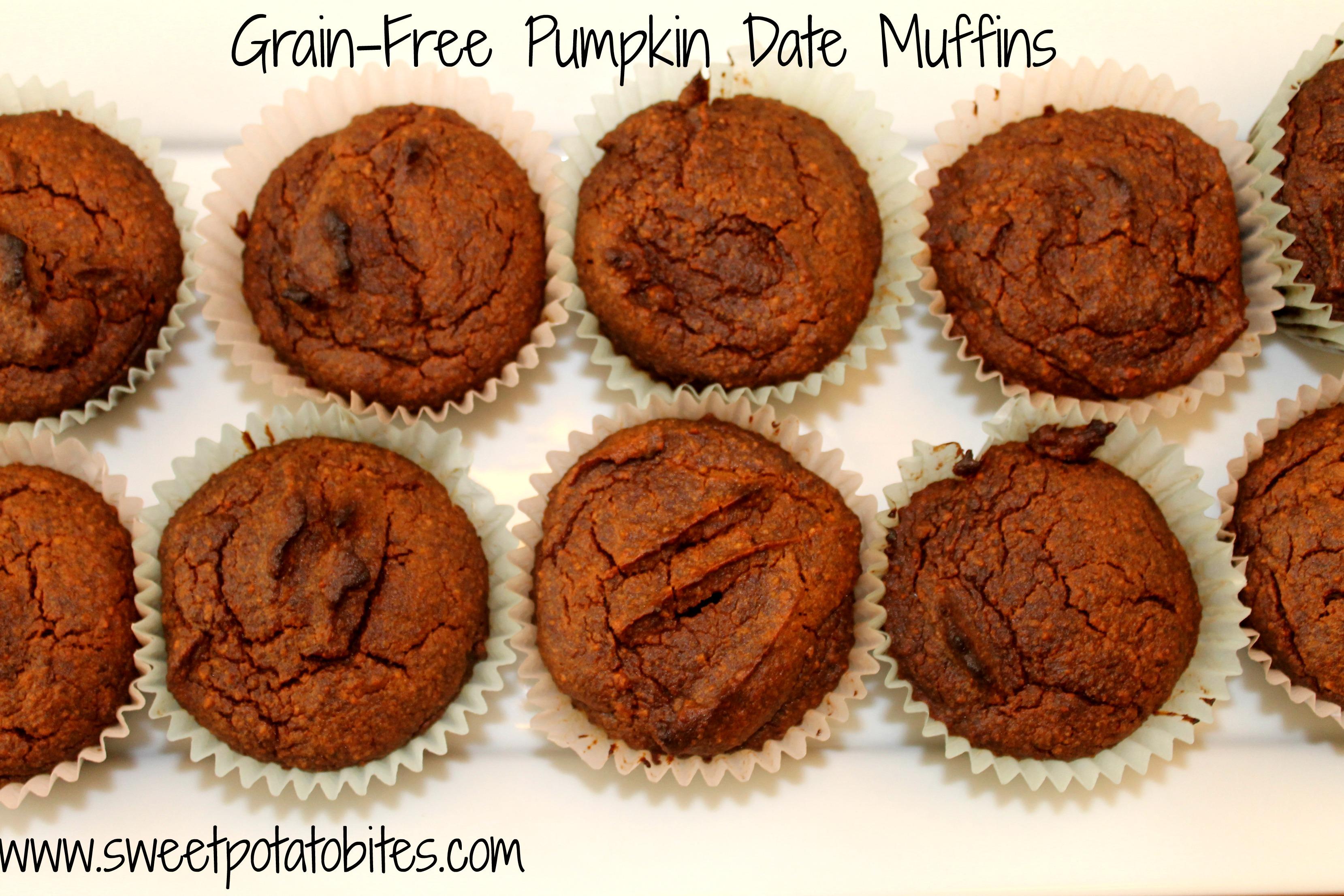 grain free pumpkin date muffins pin