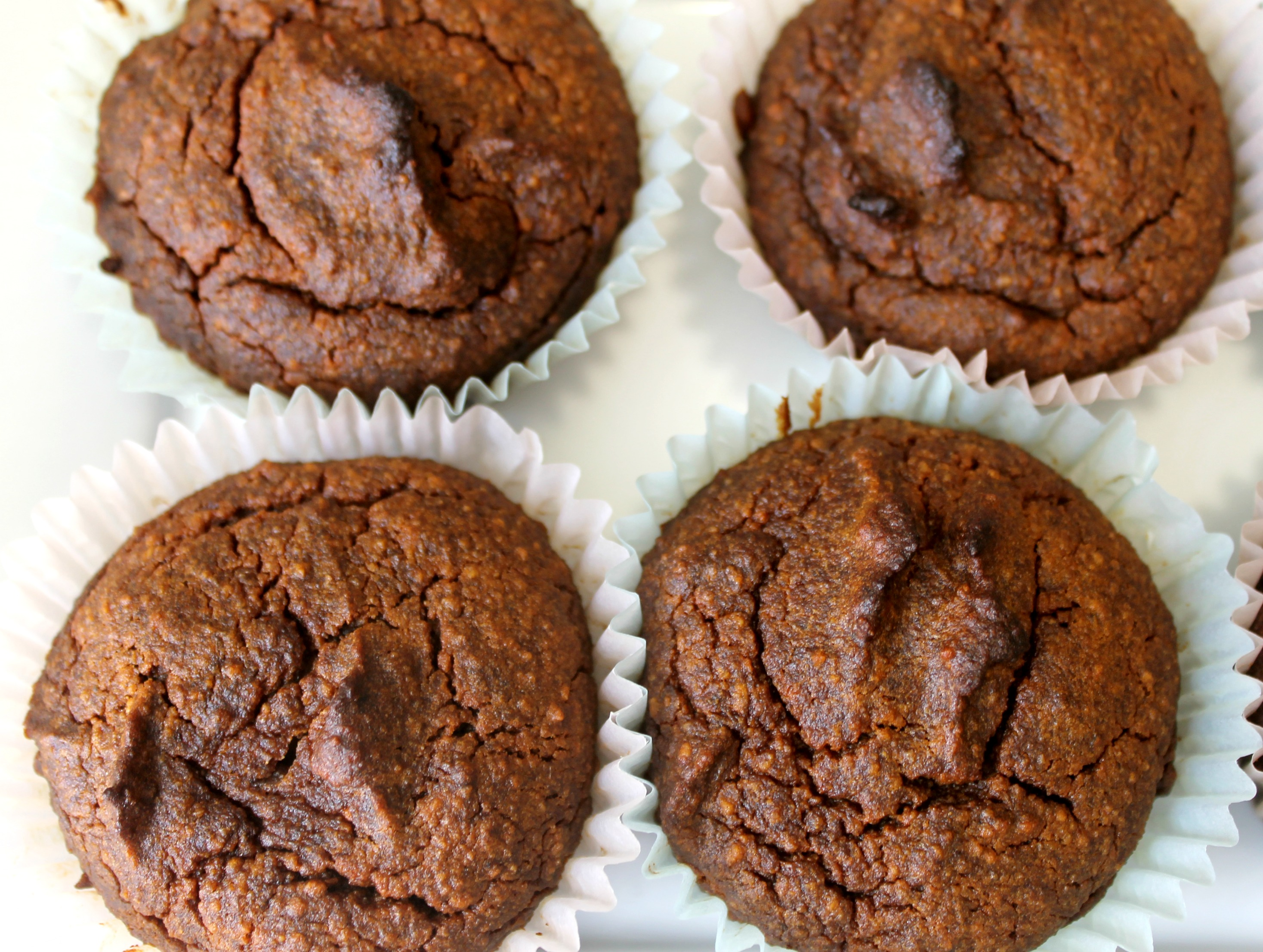 grainfree pumpkin date muffin close up