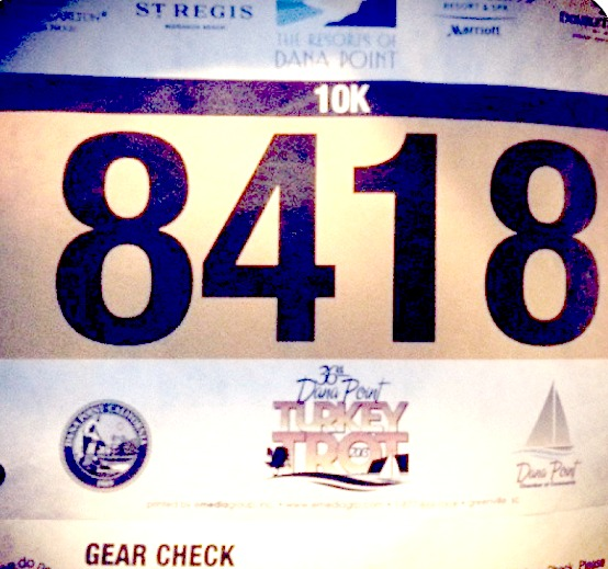 Dana Point Turkey Trot bib