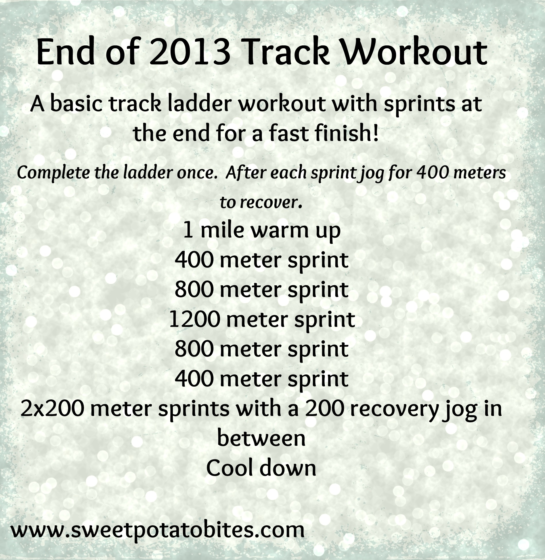 End of 2013 Track Workout