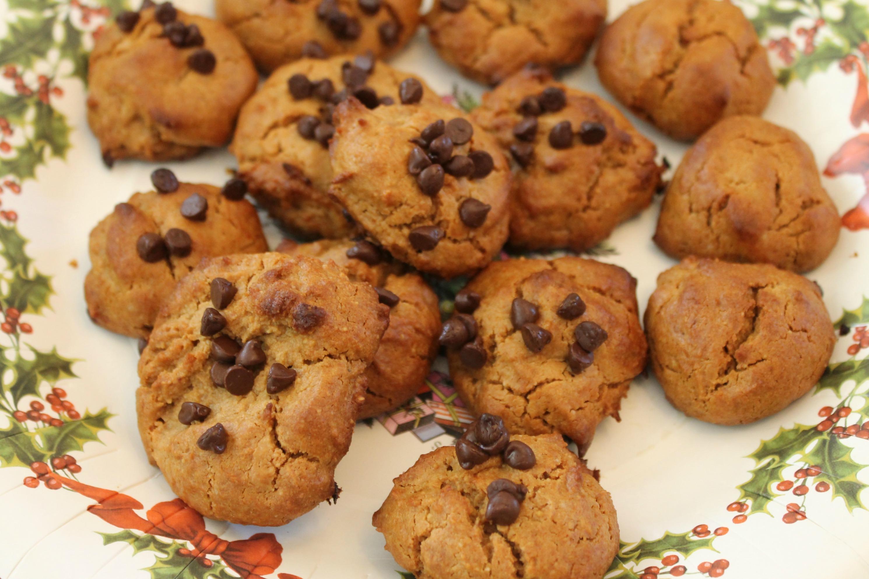 Flourless Honey Peanut Butter Cookies Closeup