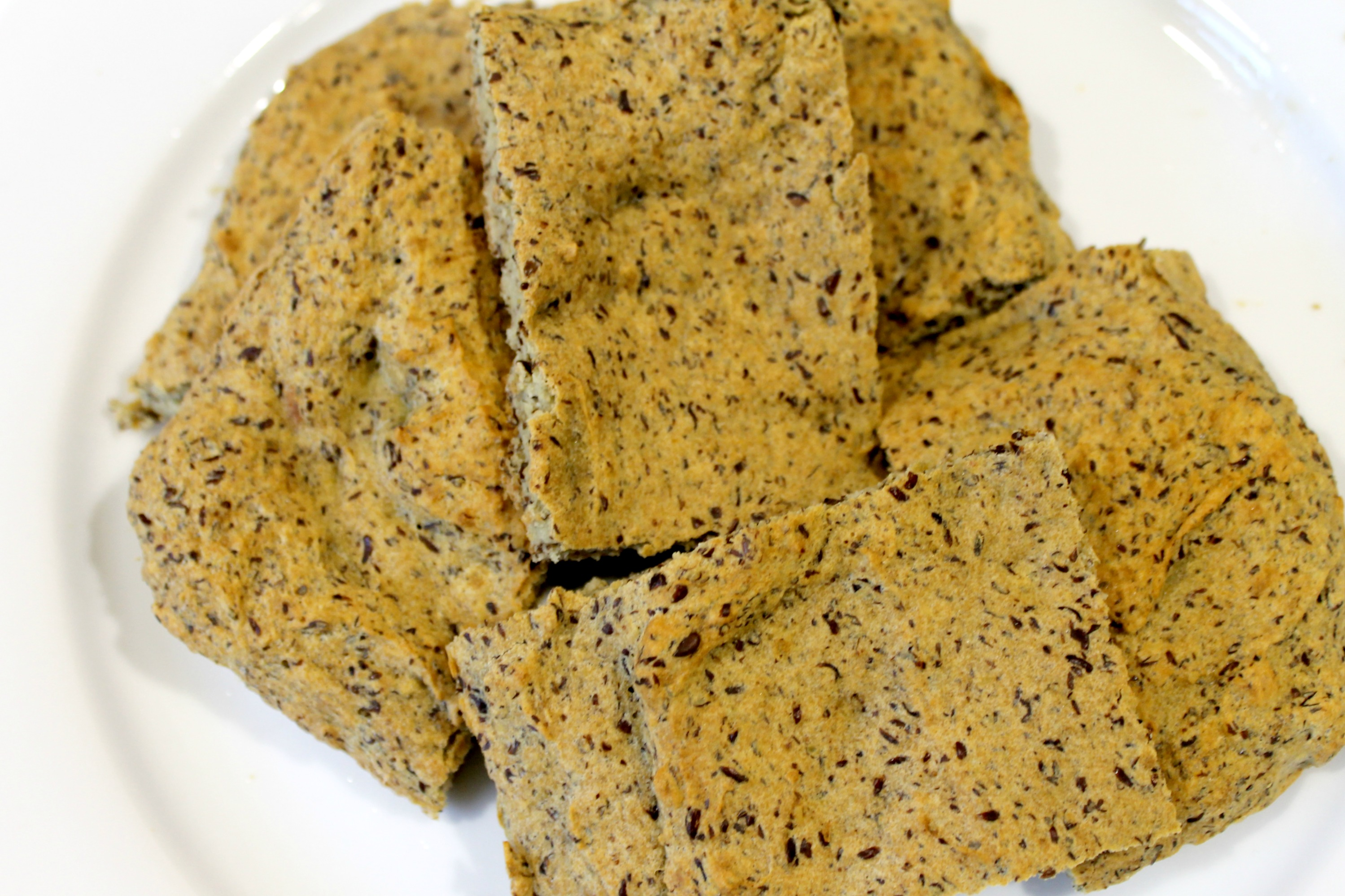 Paleo Flax Bread Squares