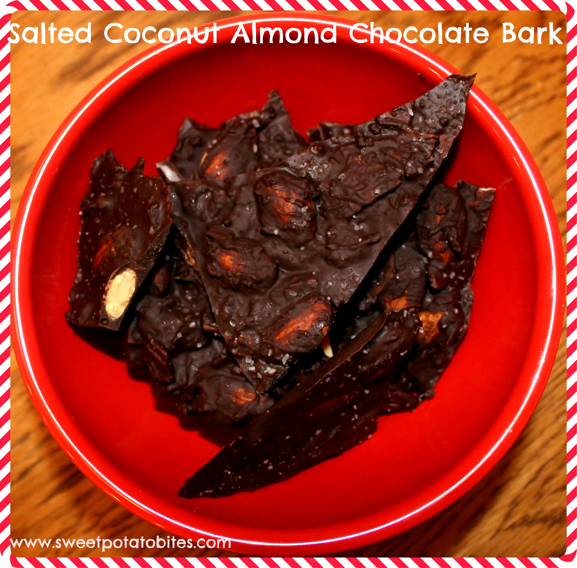 Salted Coconut Almond Chocolate Bark