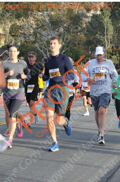 A blurry shot of the Englishman and I running the race.  It looks like he has no hands.
