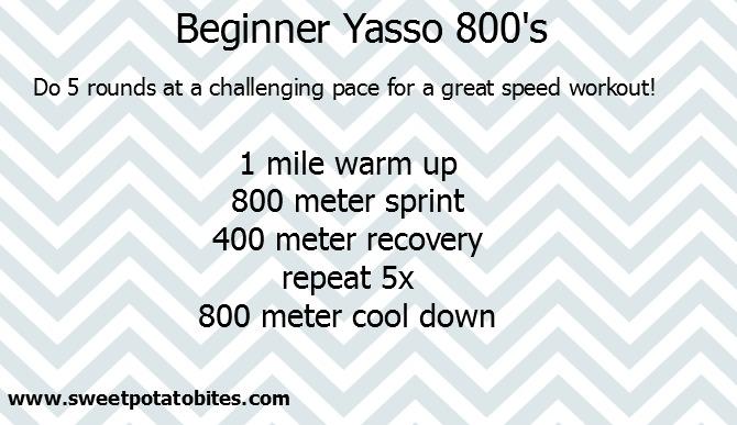 Beginner Yasso 800s
