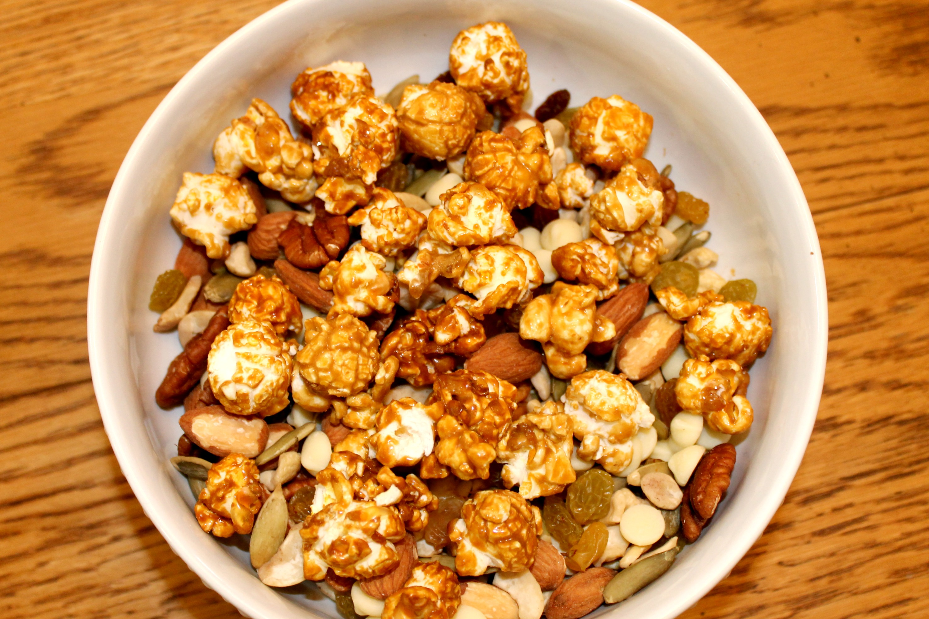 Healthy Trail Mix Caramel Corn