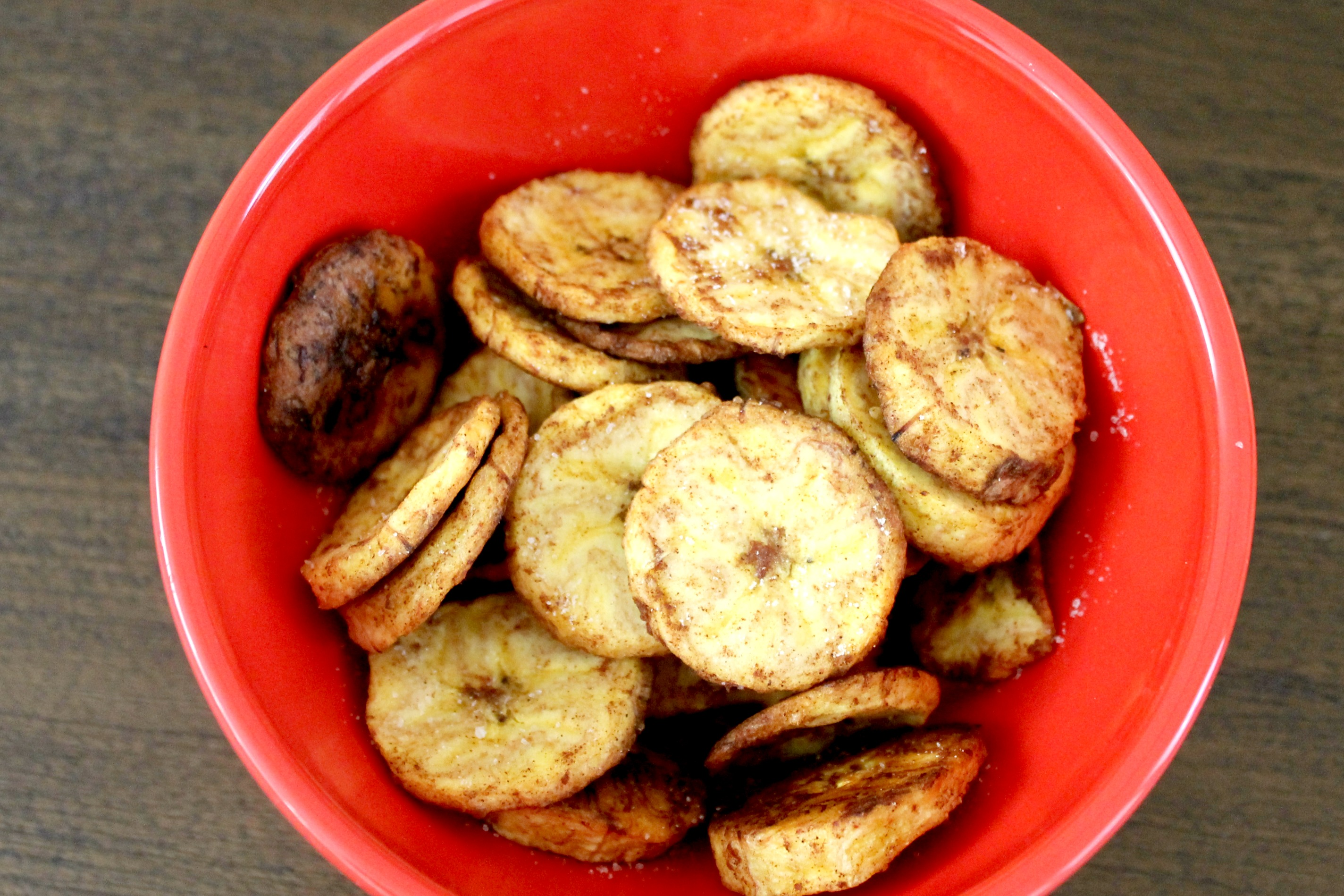 Baked Plantain Chips Snack