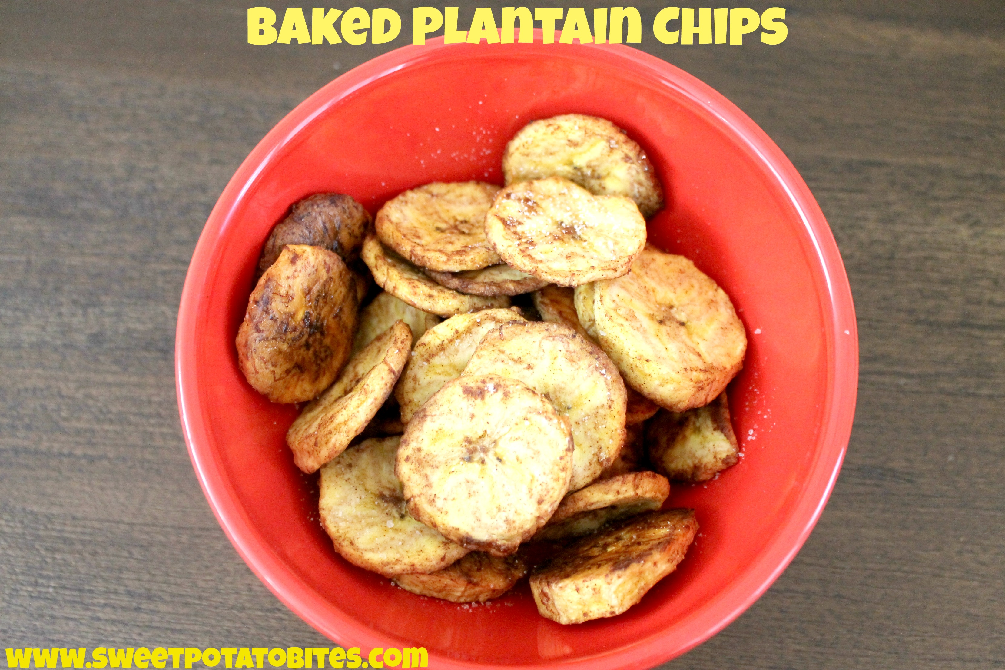 Baked Plantain Chips pin
