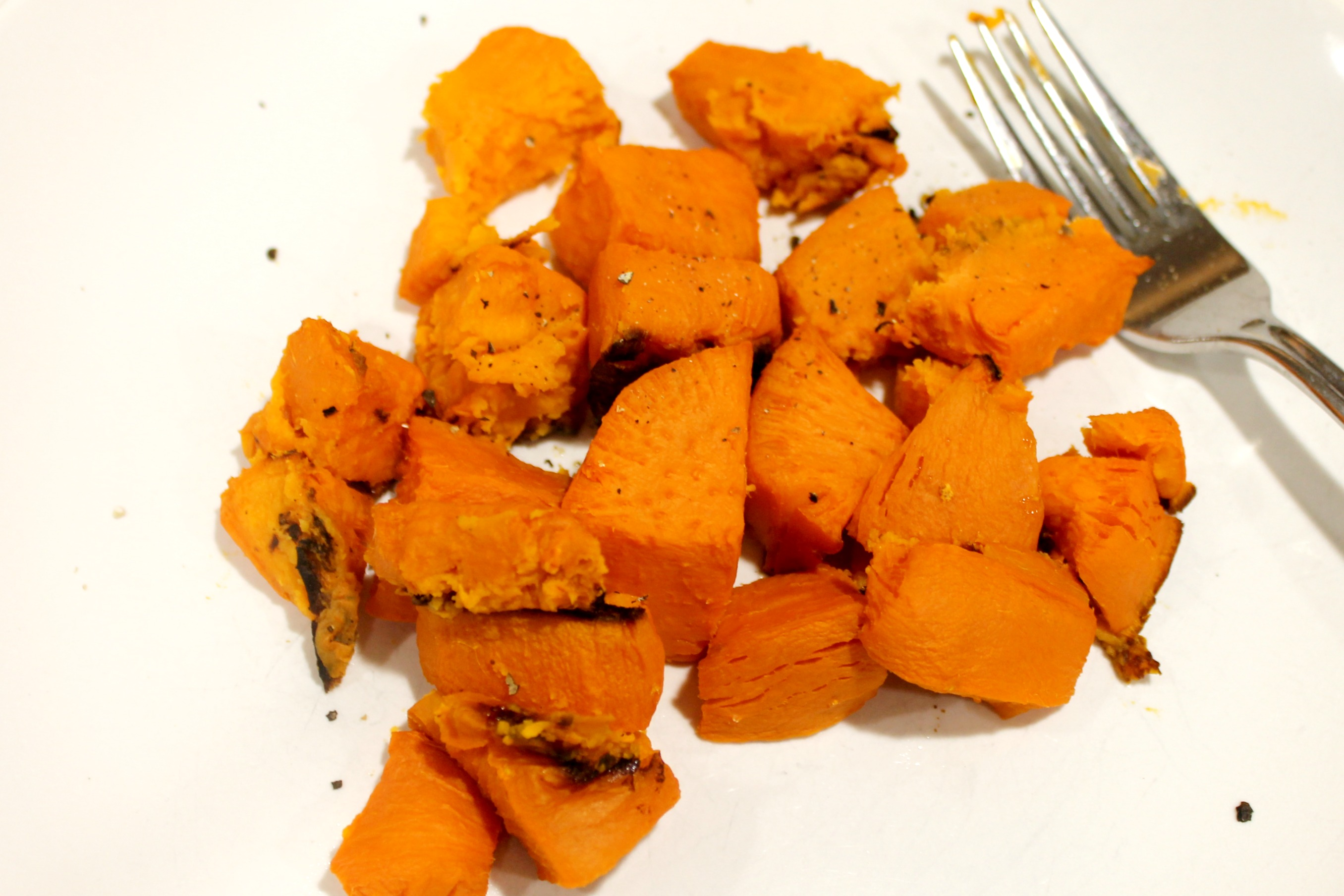 Diced Sweet Potatoes Cooked