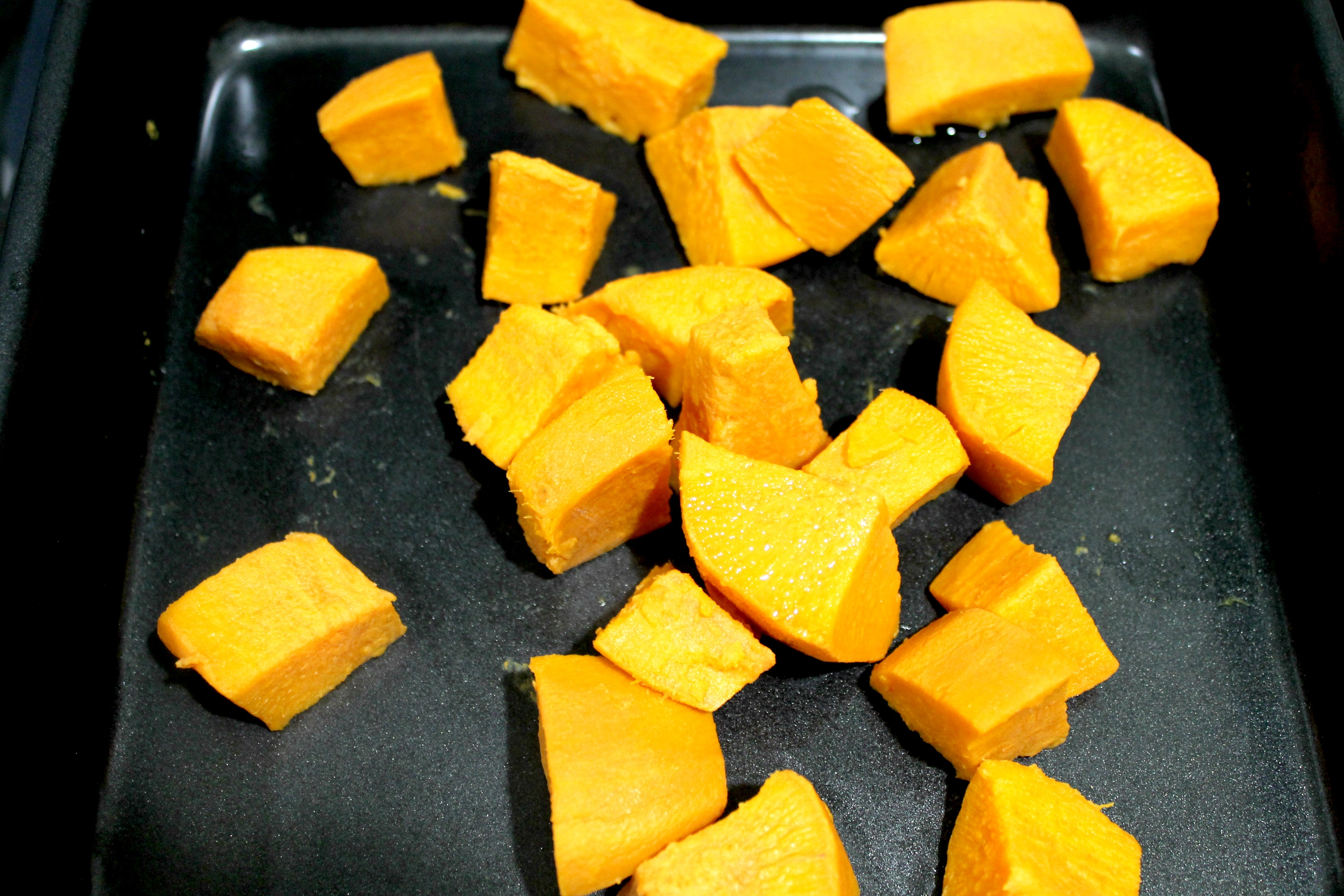 diced sweet potatoes dish