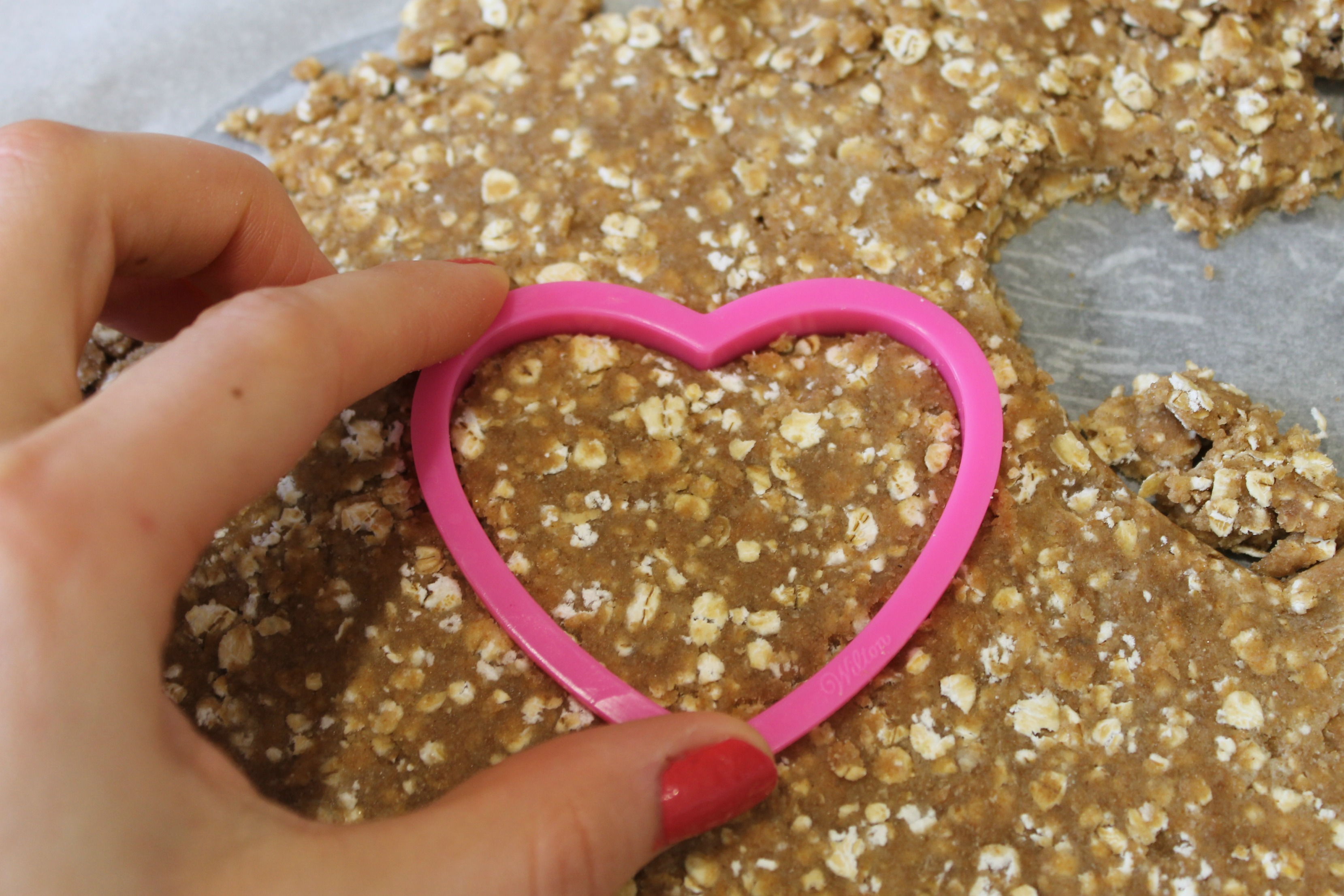 Homemade Digestive Biscuits Heart