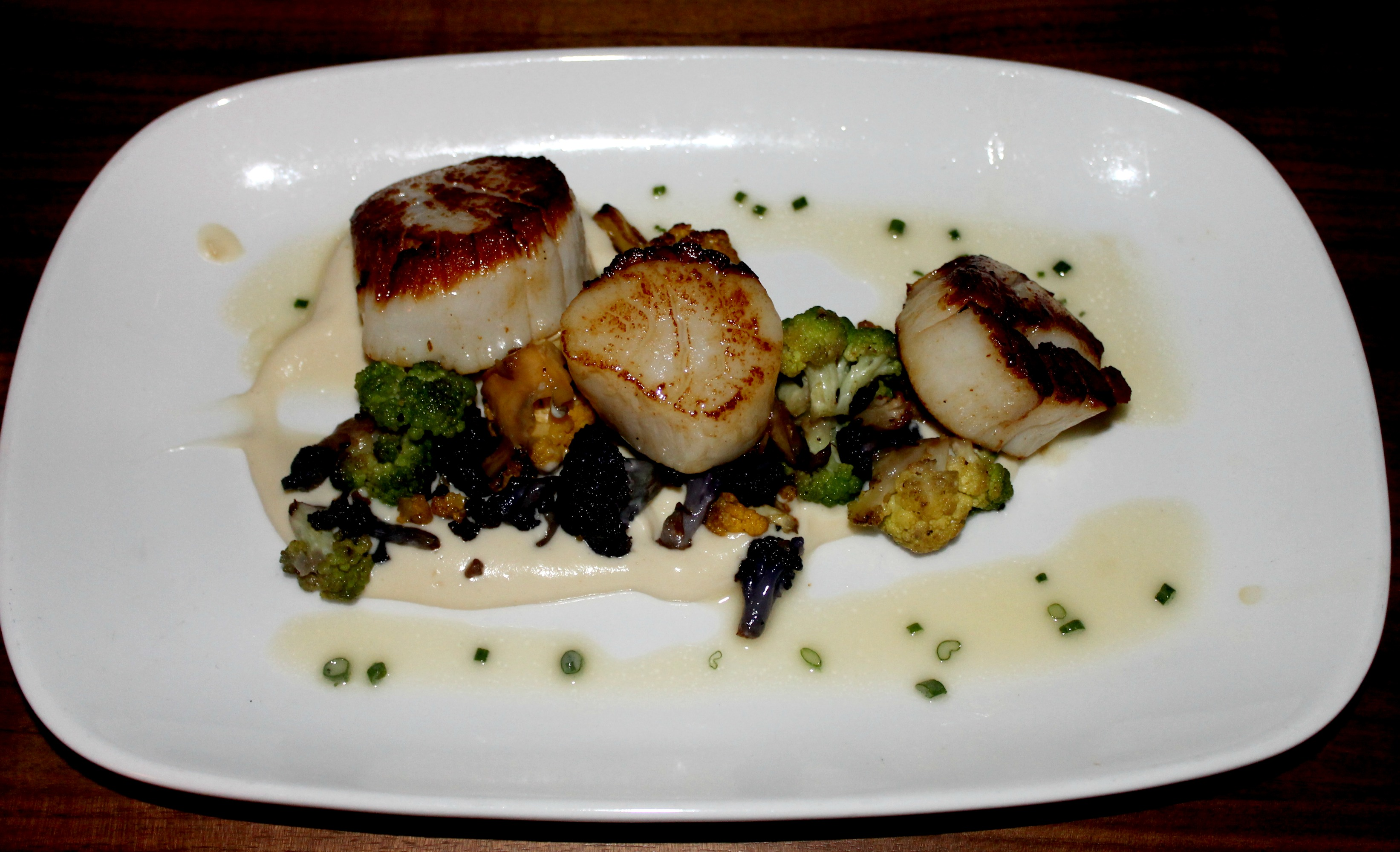 Lark Creek newport beach scallops