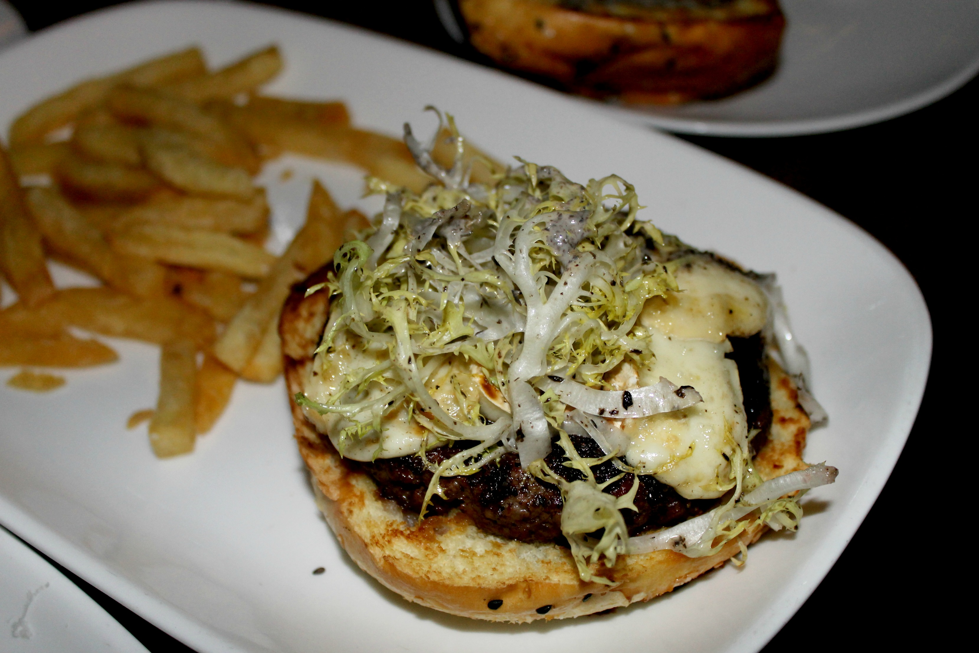 Lark Creek Newport Beach Truffle Burger 2