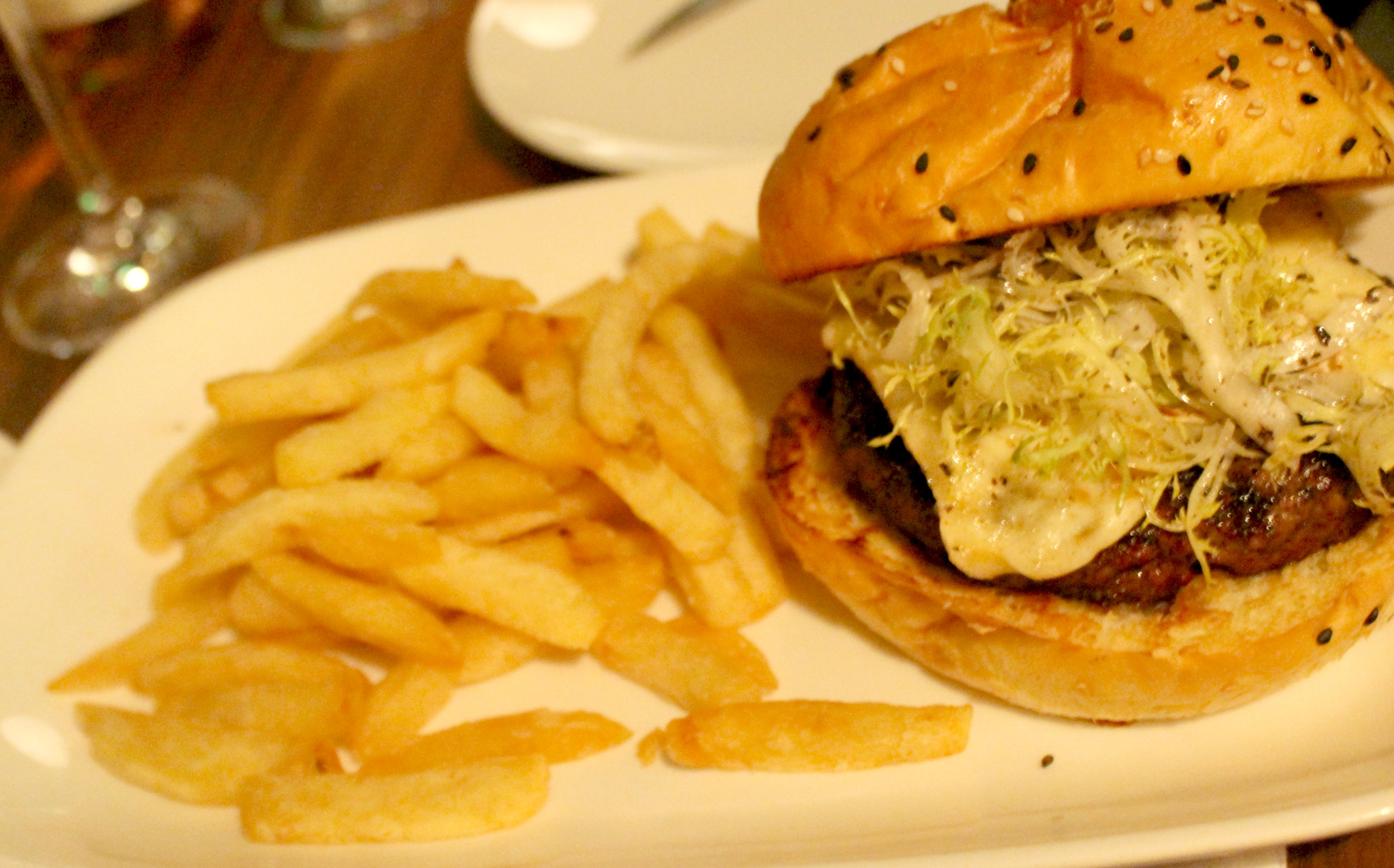 Lark Creek Newport Beach Truffle Burger 1