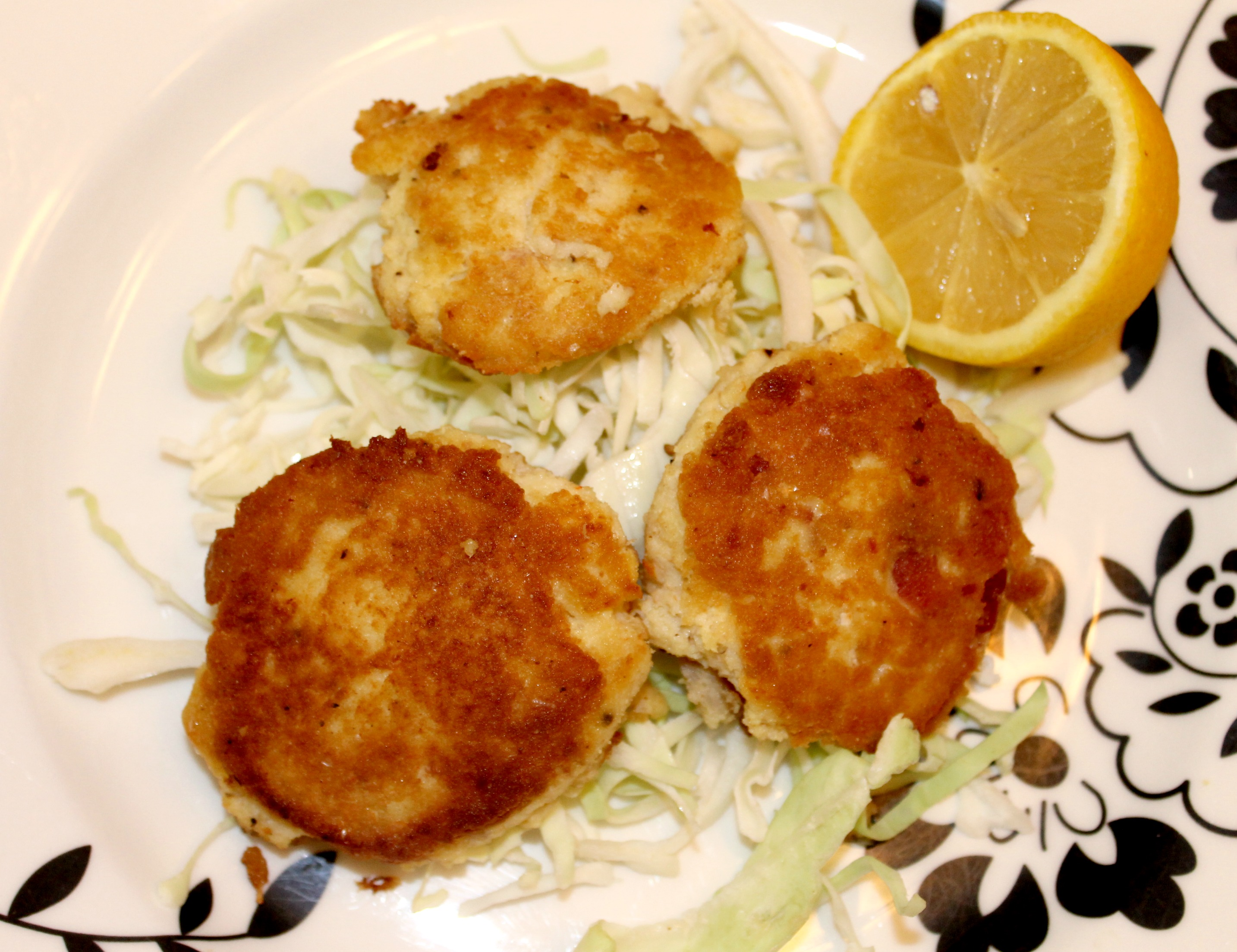 Paleo Bacon Crab Cakes Plate