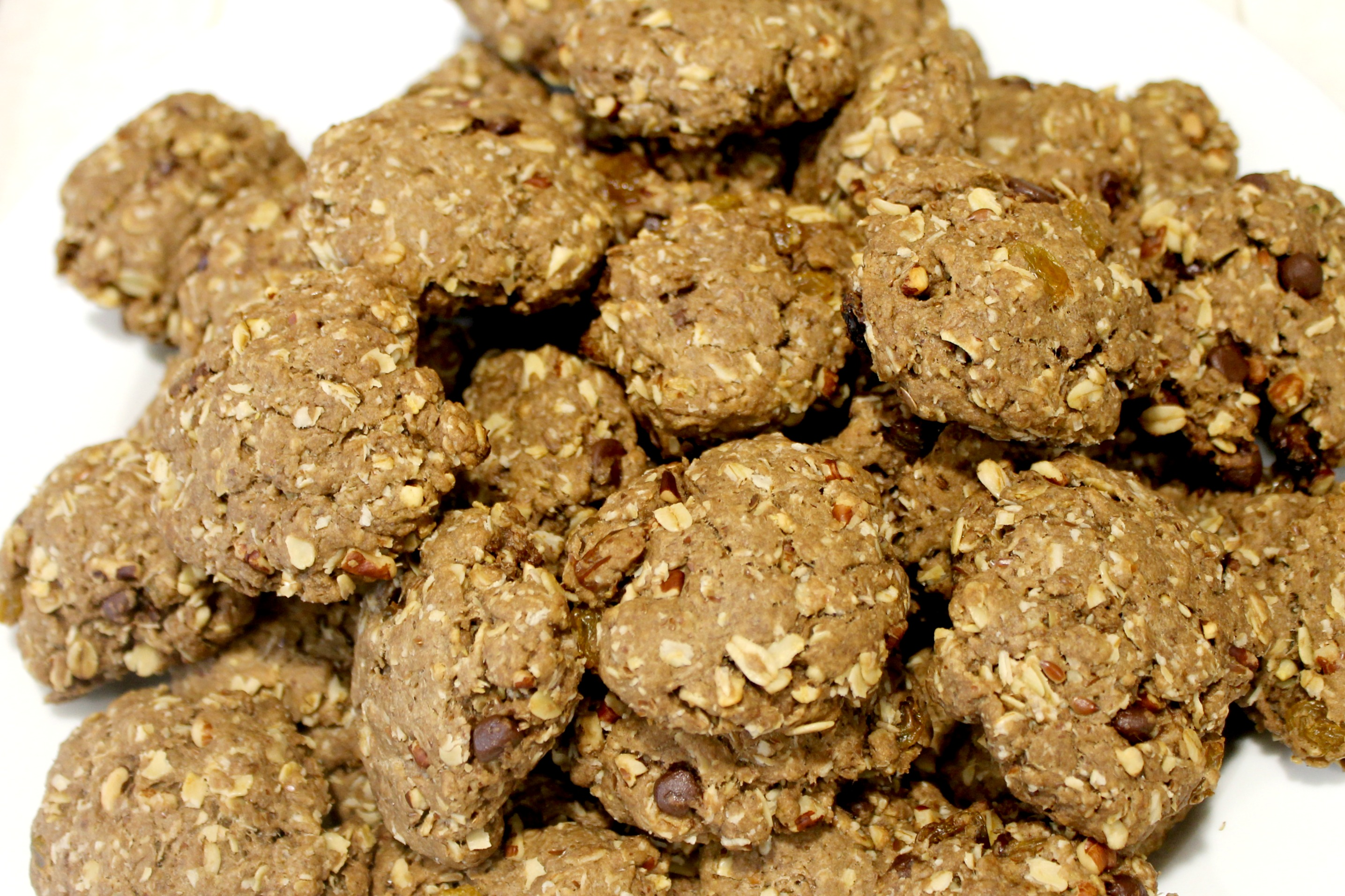 Loaded Oatmeal Cookies Close Up