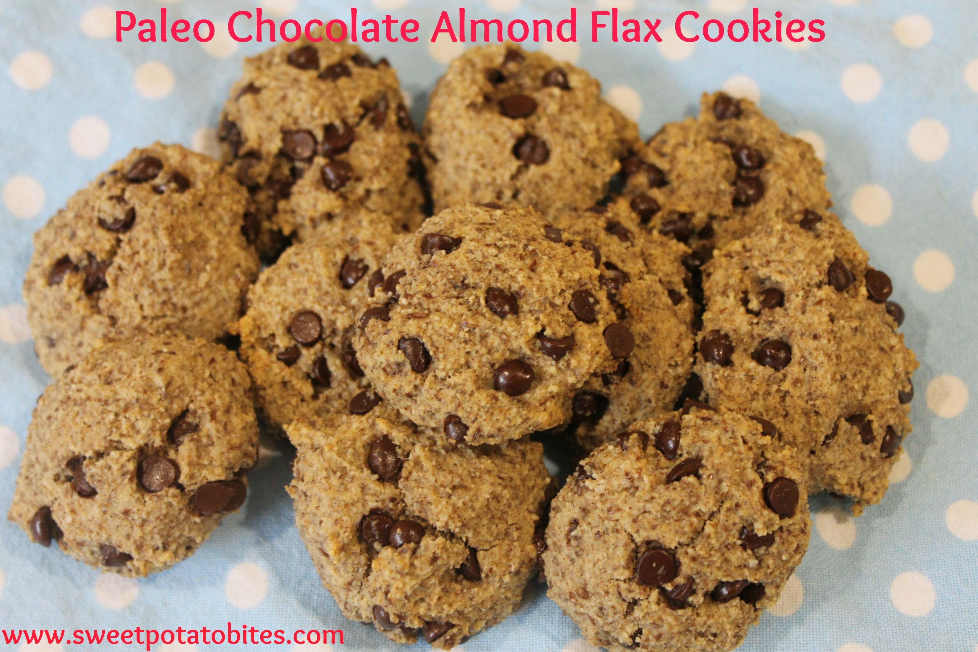 Paleo Chocolate Almond Flax Cookies