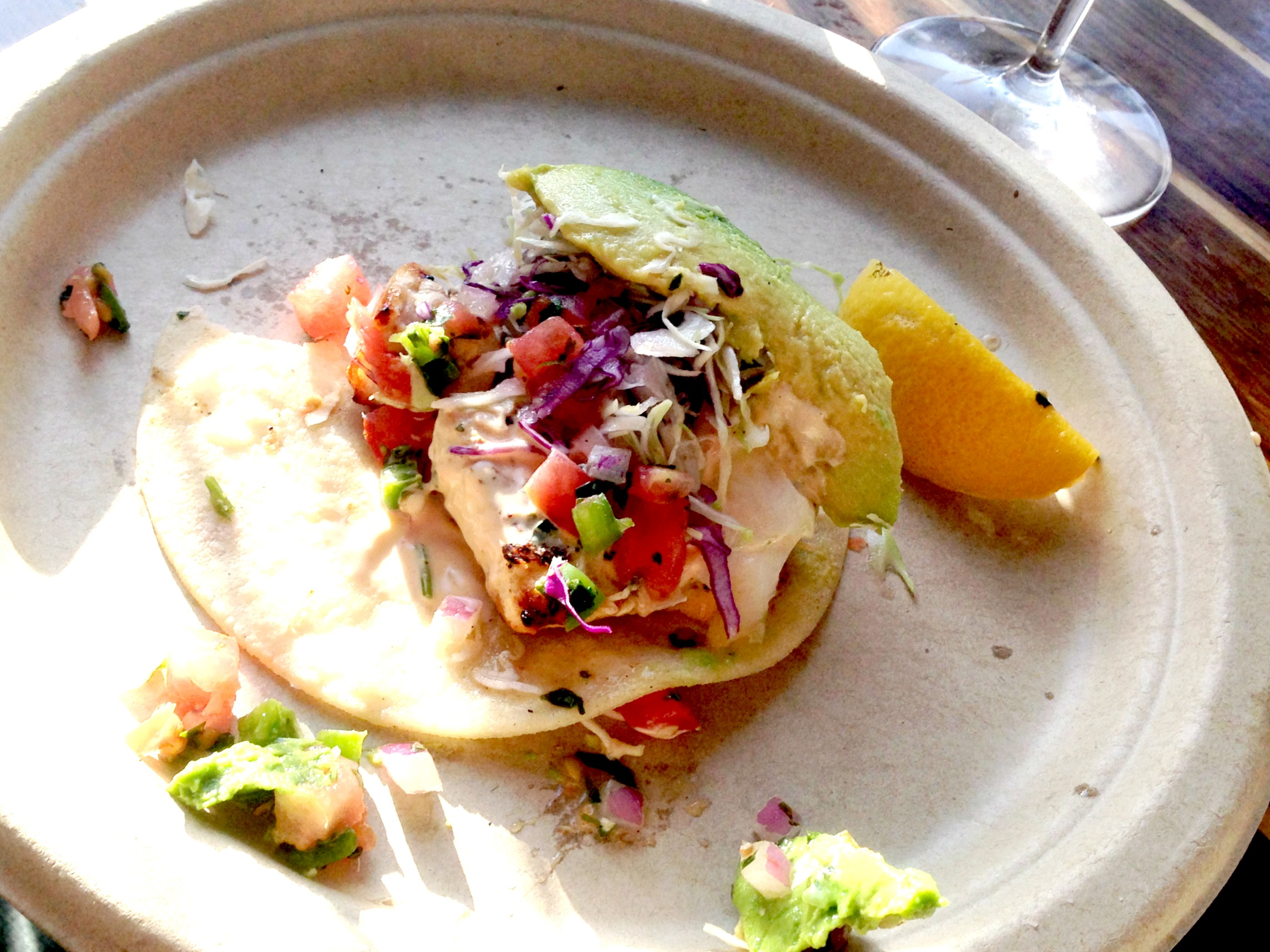 Bear Flag Fish Co Swordfish taco