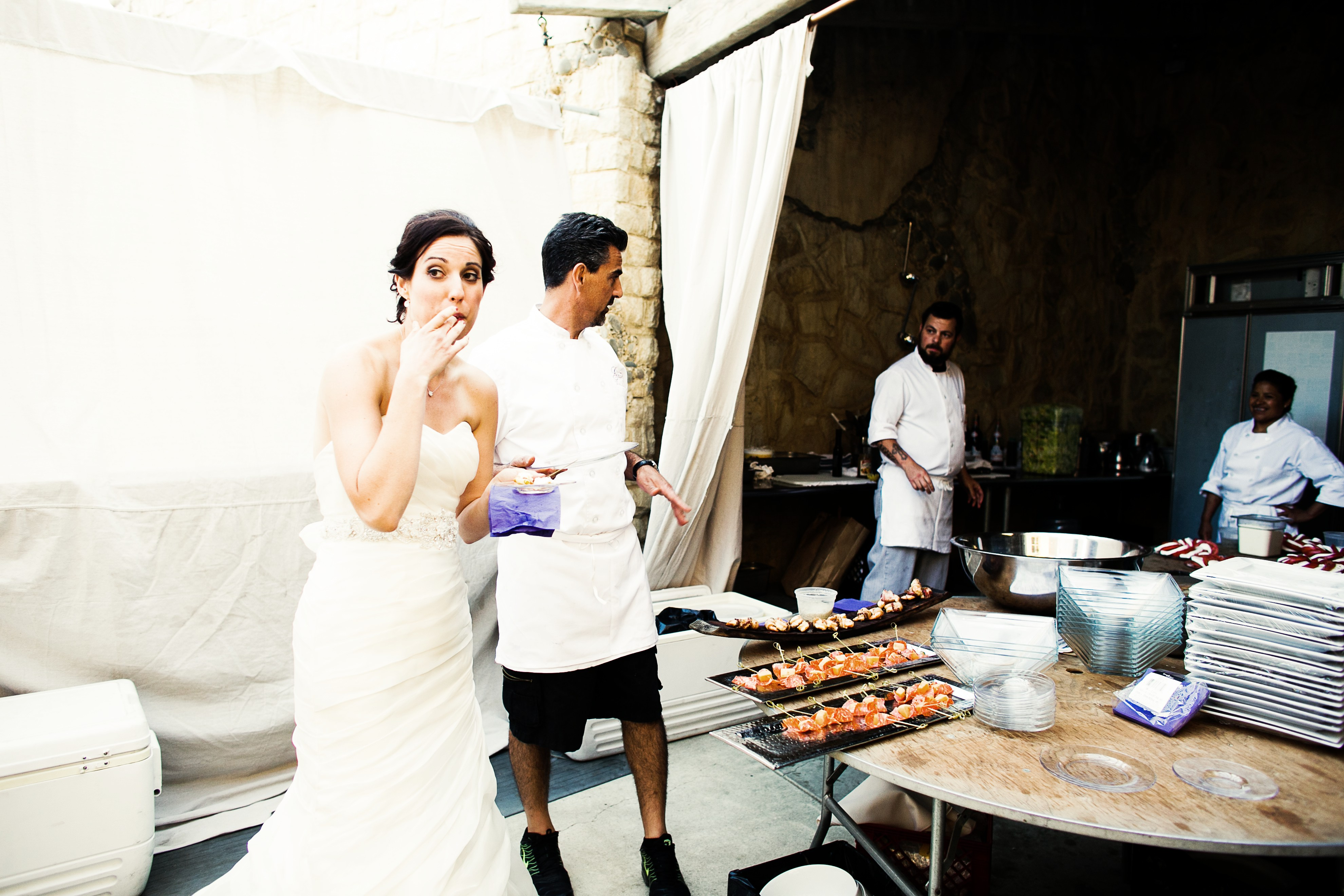 Sunstone Winery Food Wedding
