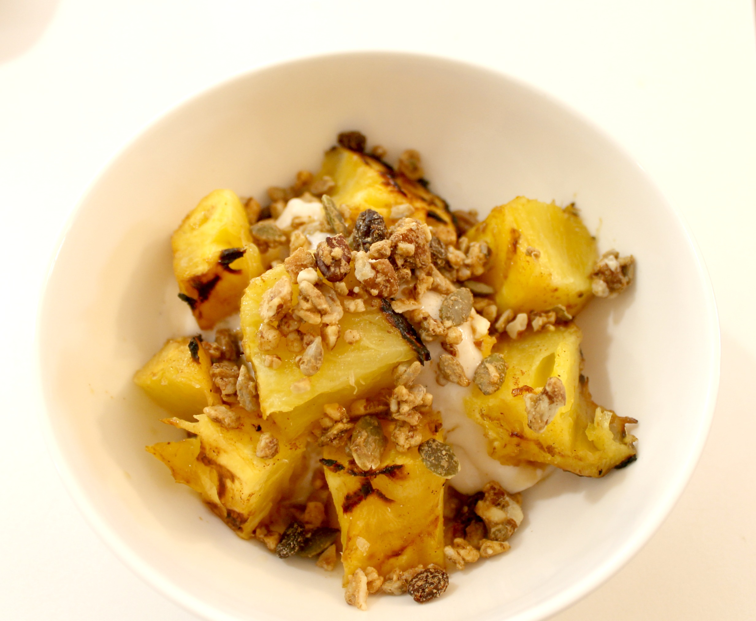 grilled pineapple dessert bowl