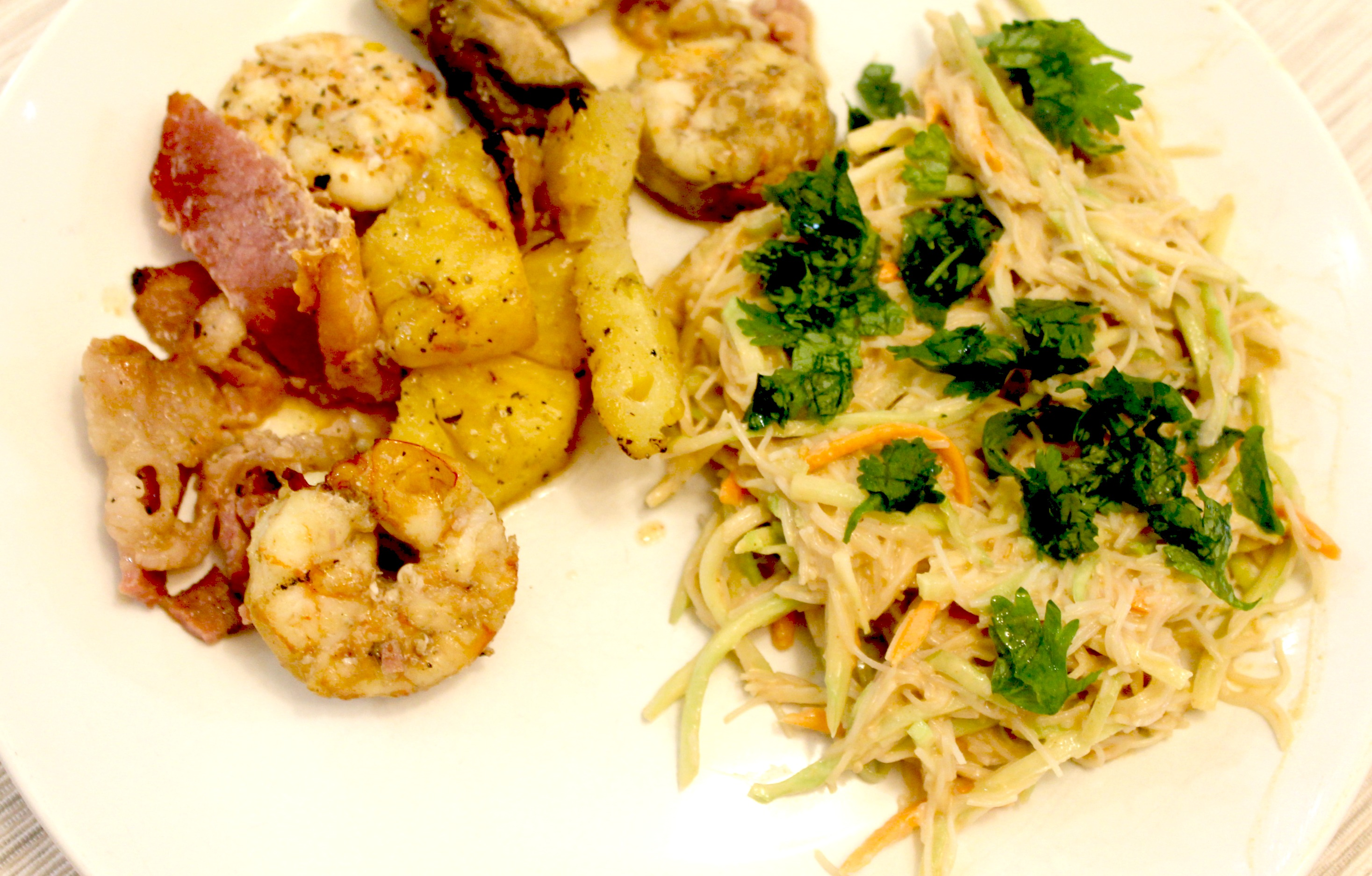 Asian Noodle Salad with Peanut Sauce Shrimp