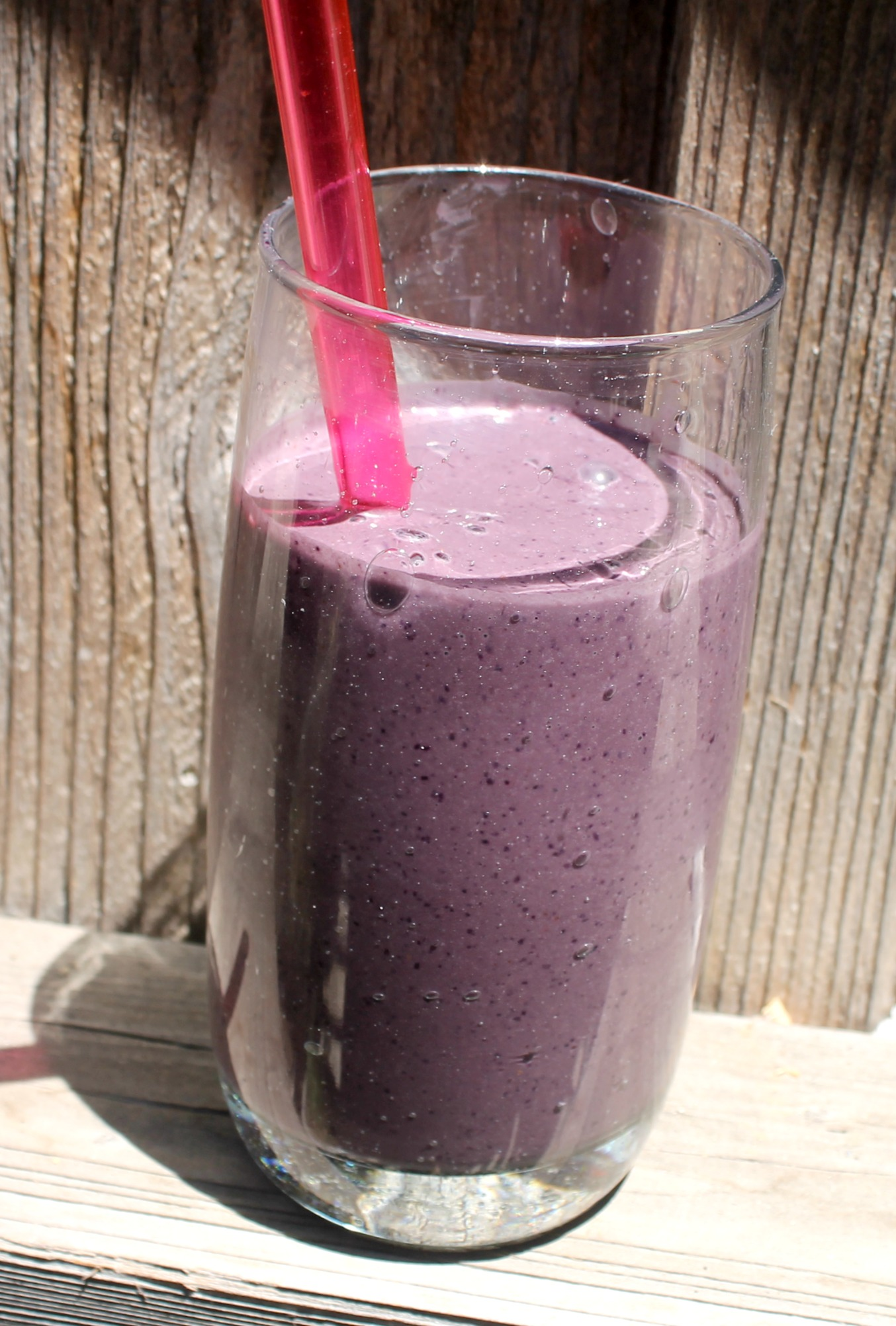 Blueberry Avocado Smoothie Glass
