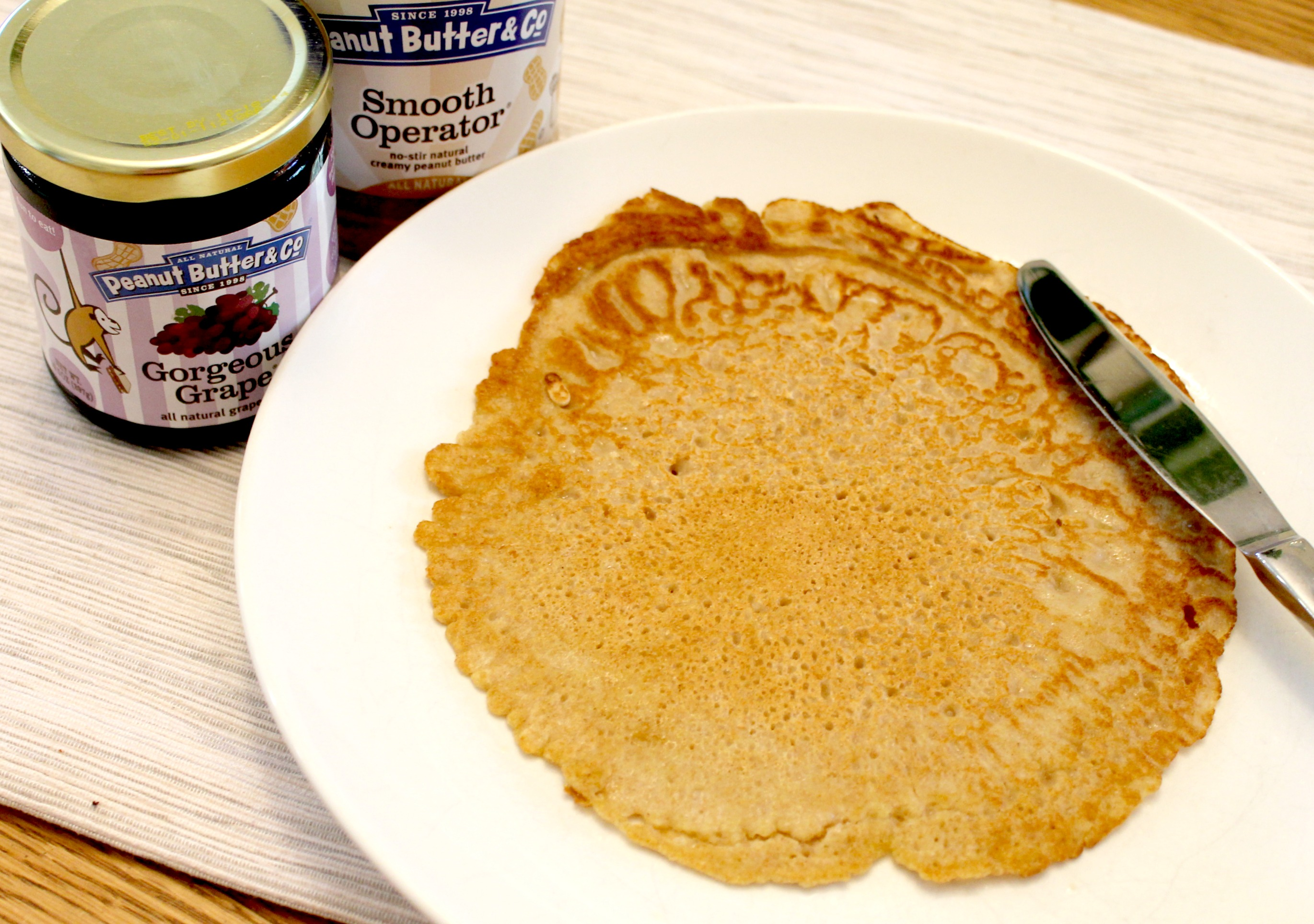 peanut butter and jelly crepes spread