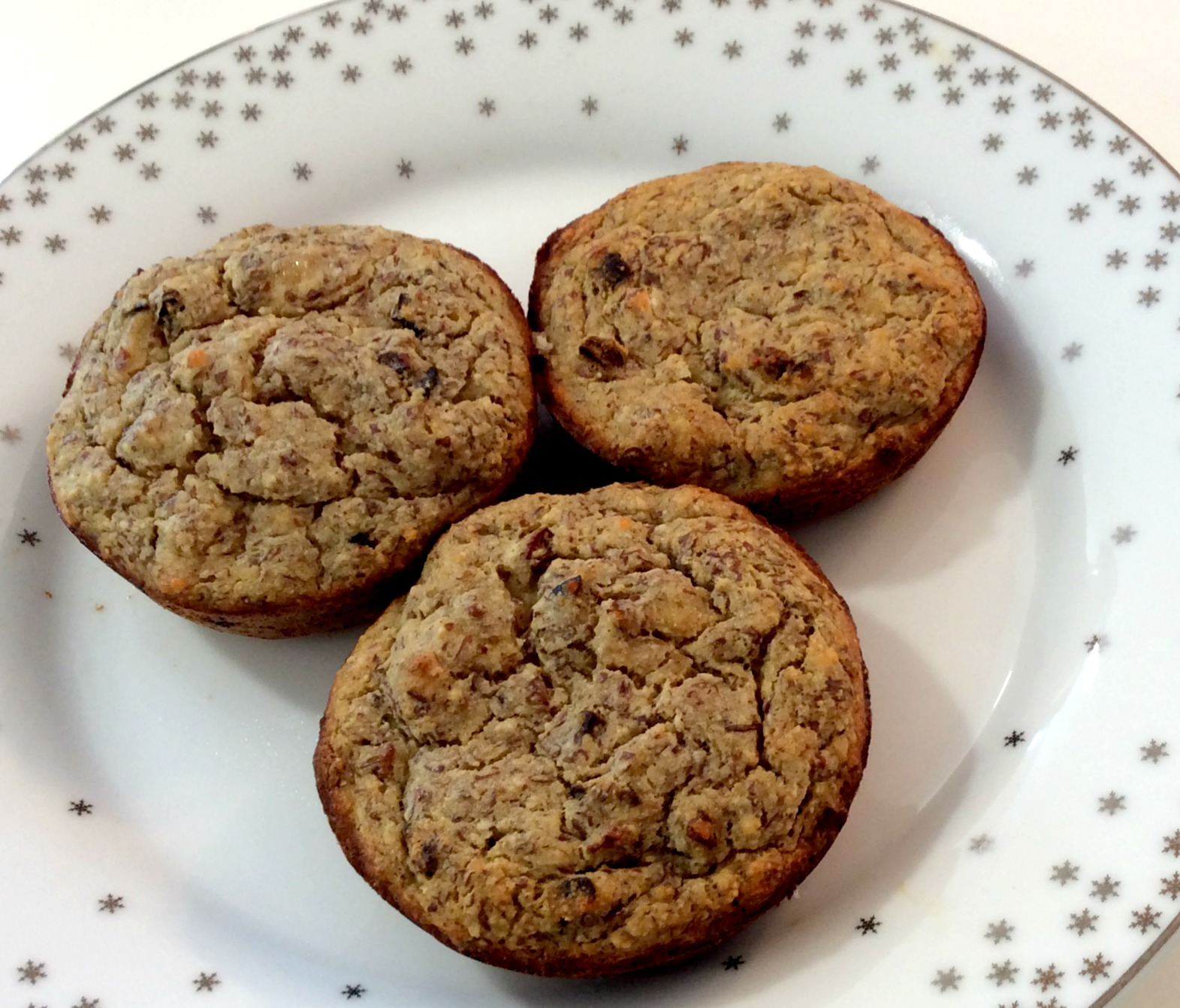 Paleo Banana Cacao Nib Muffins Close