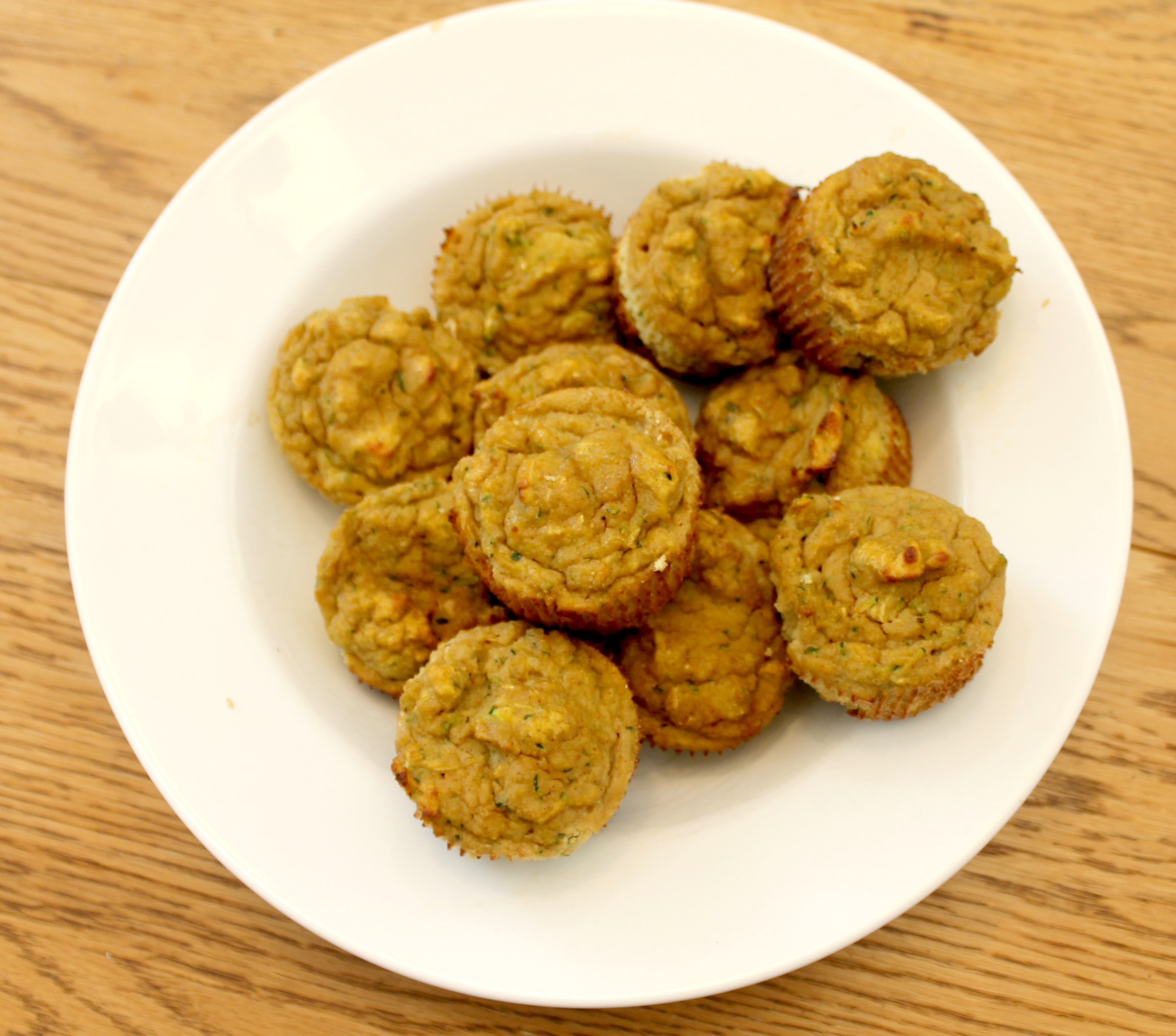 grain free pumpkin zucchini muffins bowl