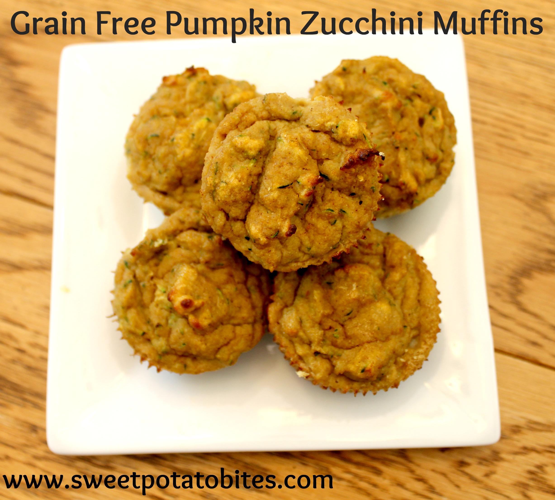 grain free pumpkin zucchini muffins pin
