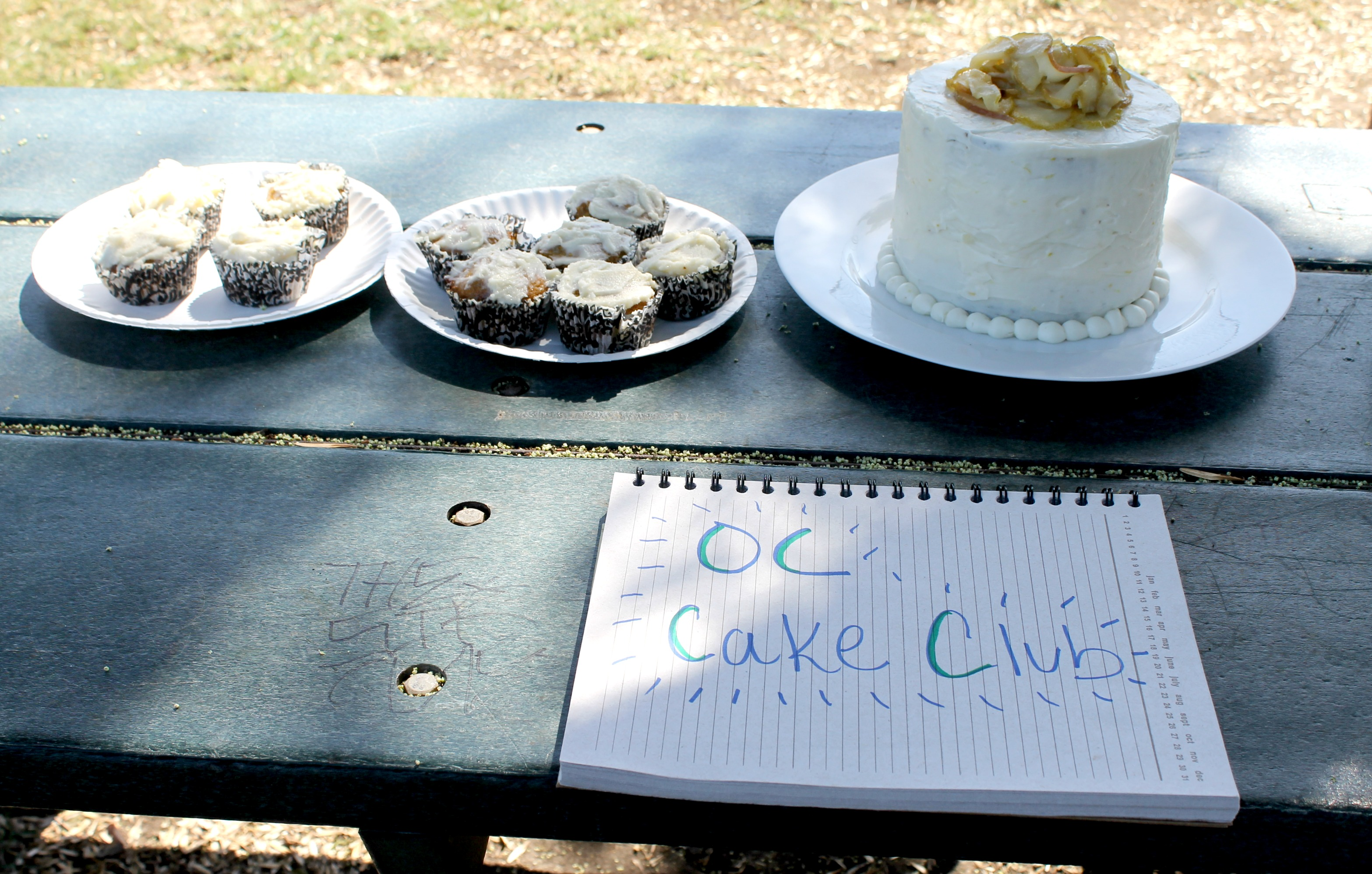 gluten free carrot coconut cupcakes table