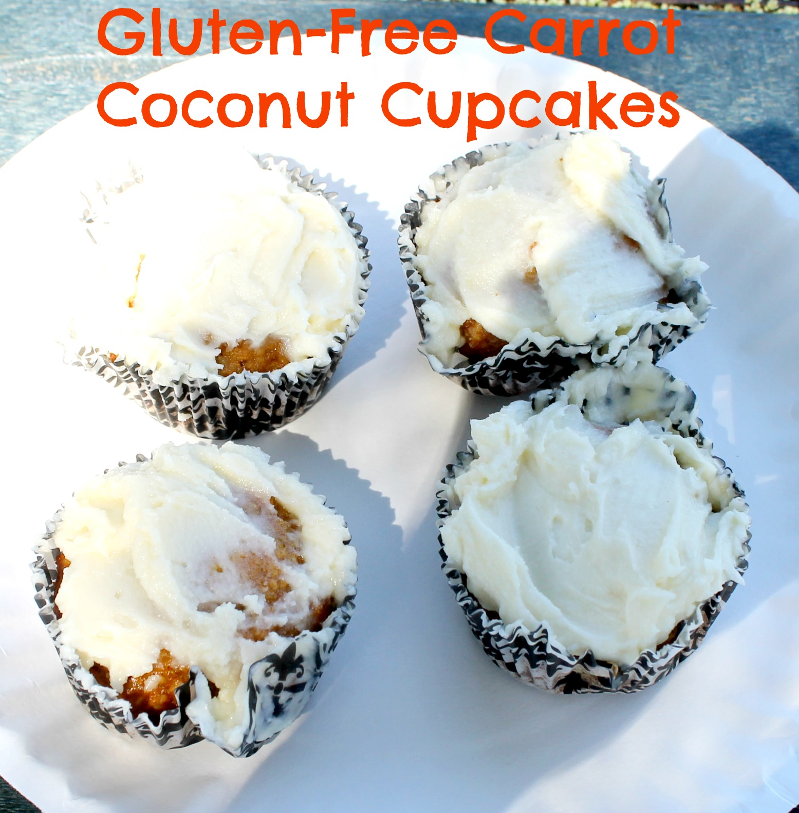 gluten free carrot coconut cupcakes pin