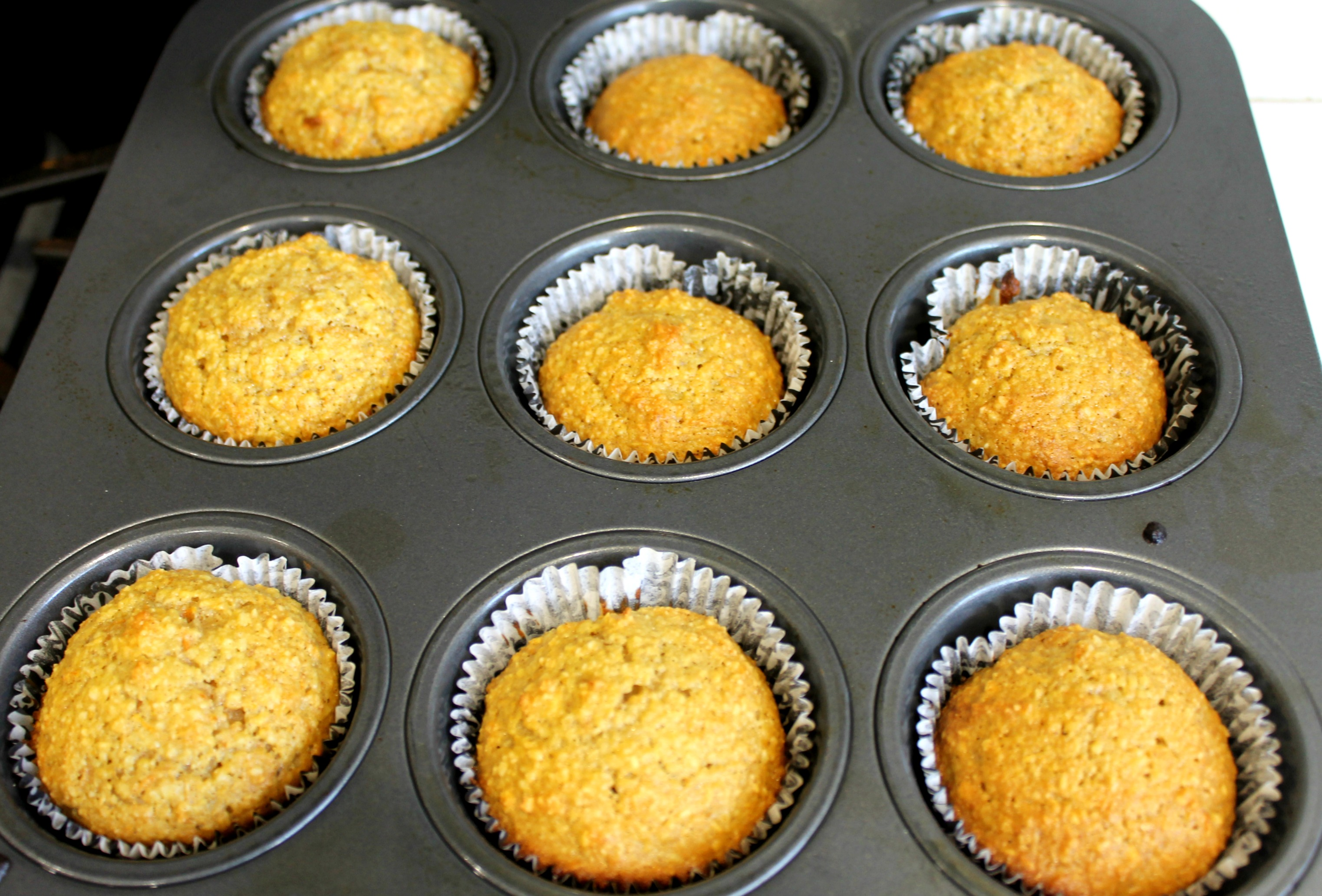 gluten free carrot coconut cupcakes tin