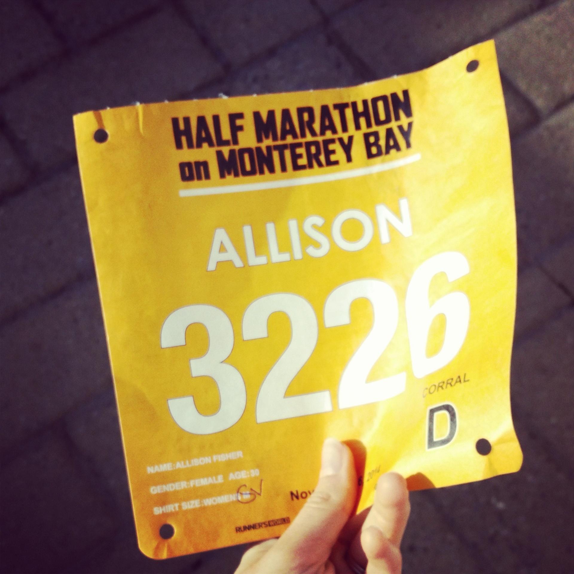 big sur half marathon bib