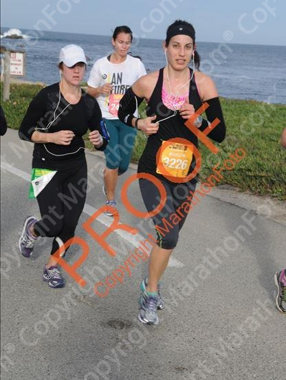 big sur half marathon on monterey bay pic