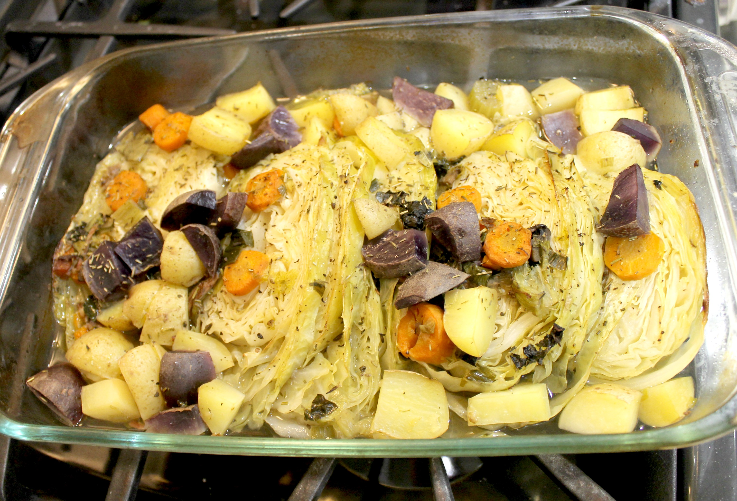 braised cabbage and potatoes