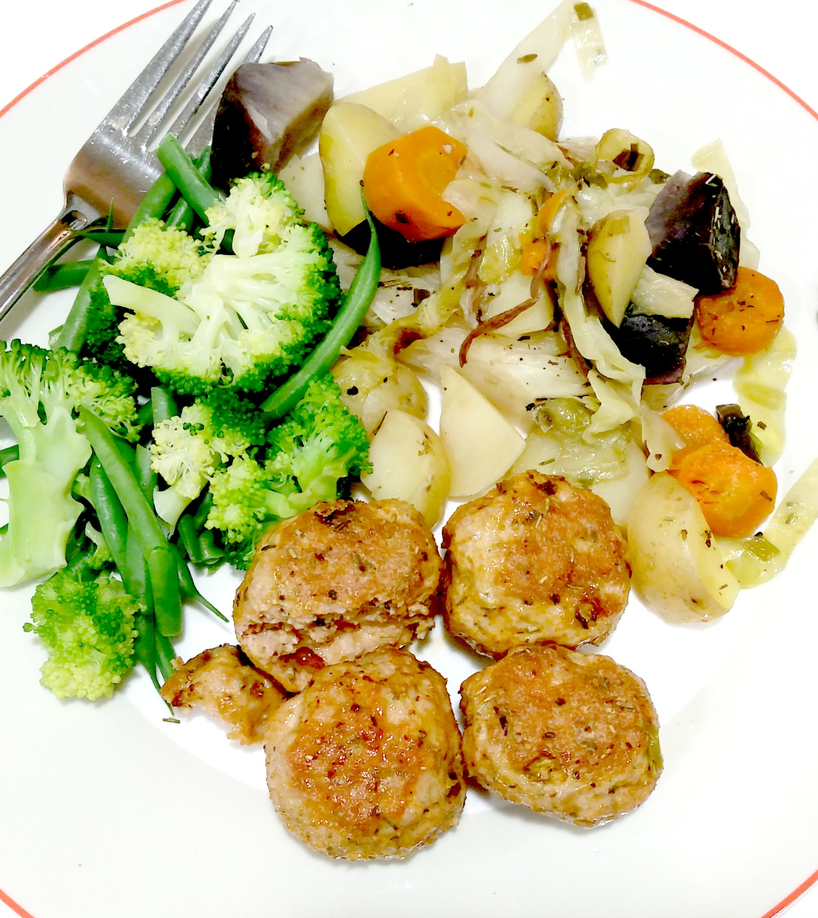 braised cabbage meatballs