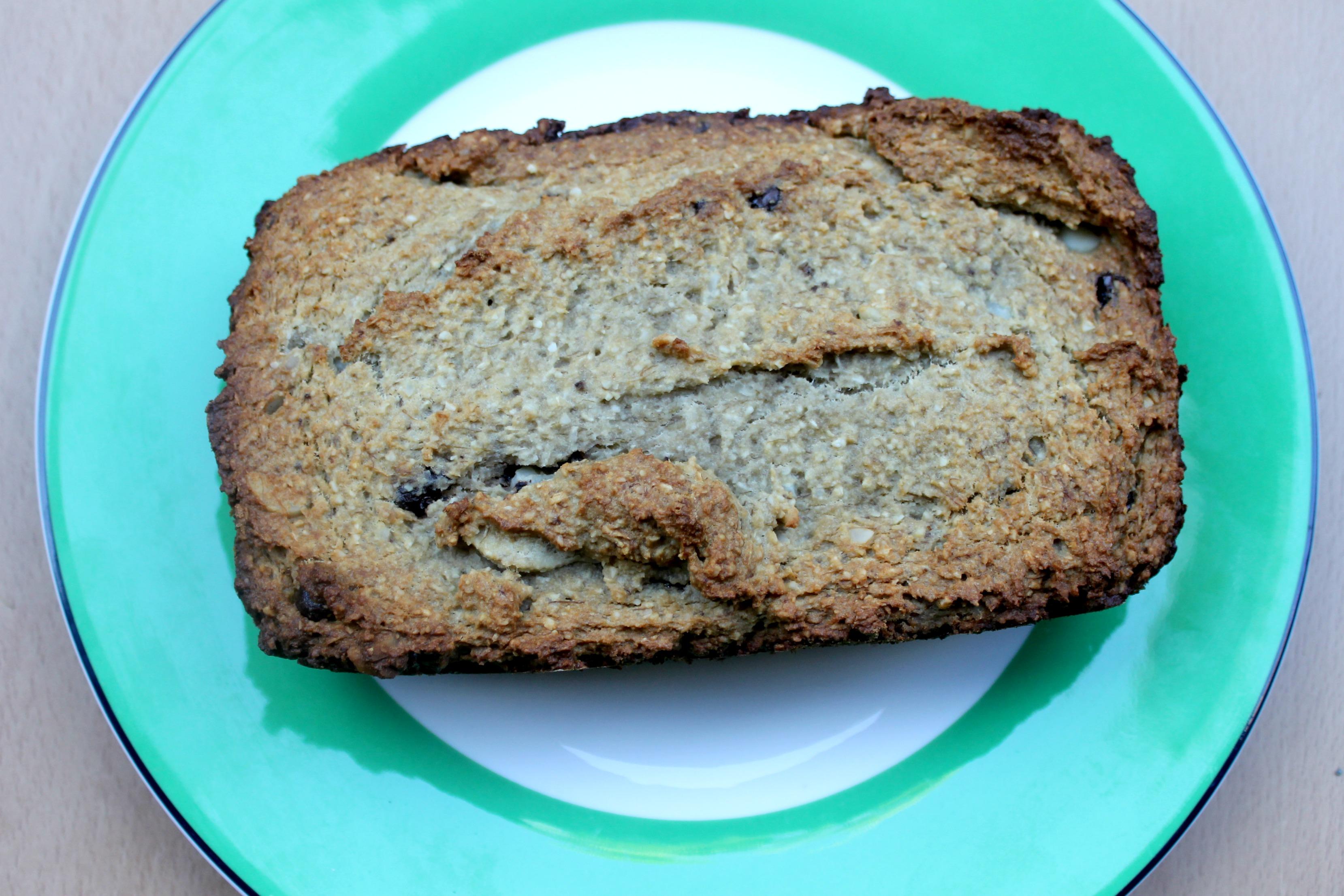 grain free banana macadamia nut bread
